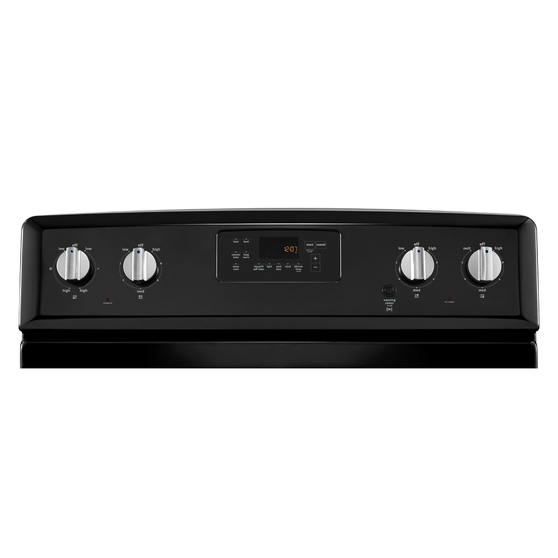 Maytag MER8700DE 6.2 cu. ft. Electric Range w/ 5th Element - Black w/ Stainless Handle