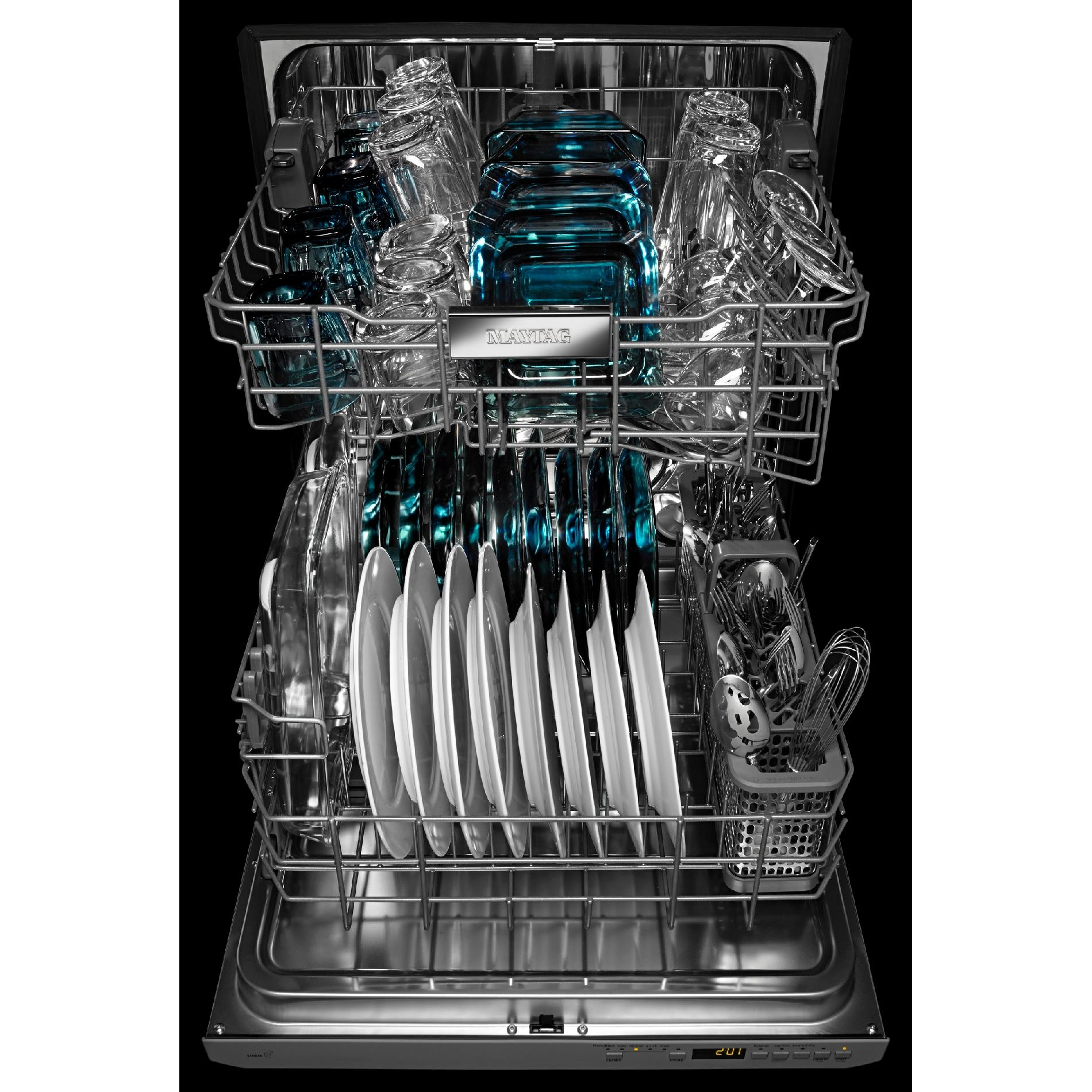 "Maytag MDB8969SDM 24"" Built-In Dishwasher w/ Stainless Steel Silverware Basket - Stainless Steel"