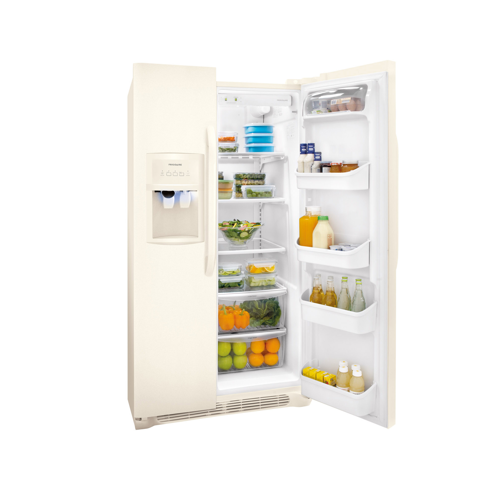 Frigidaire 25.5 cu. ft. Side-by-Side Refrigerator - Bisque