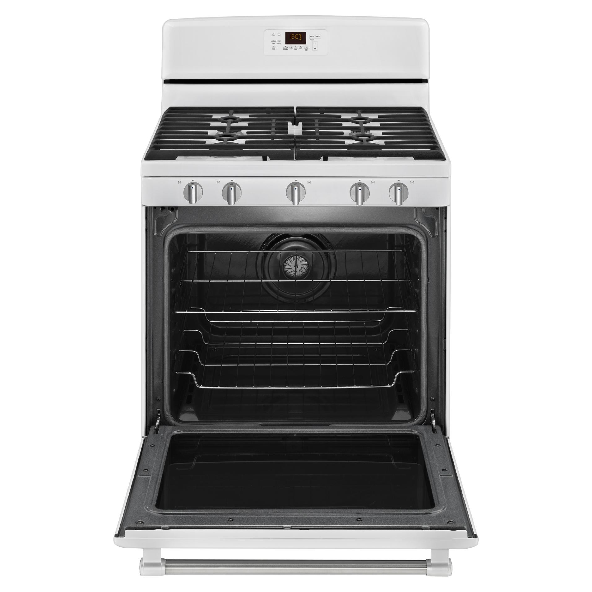 Maytag MGR8700DH 5.8 cu. ft. Gas Range w/ 5th Burner - White w/ Stainless Handle