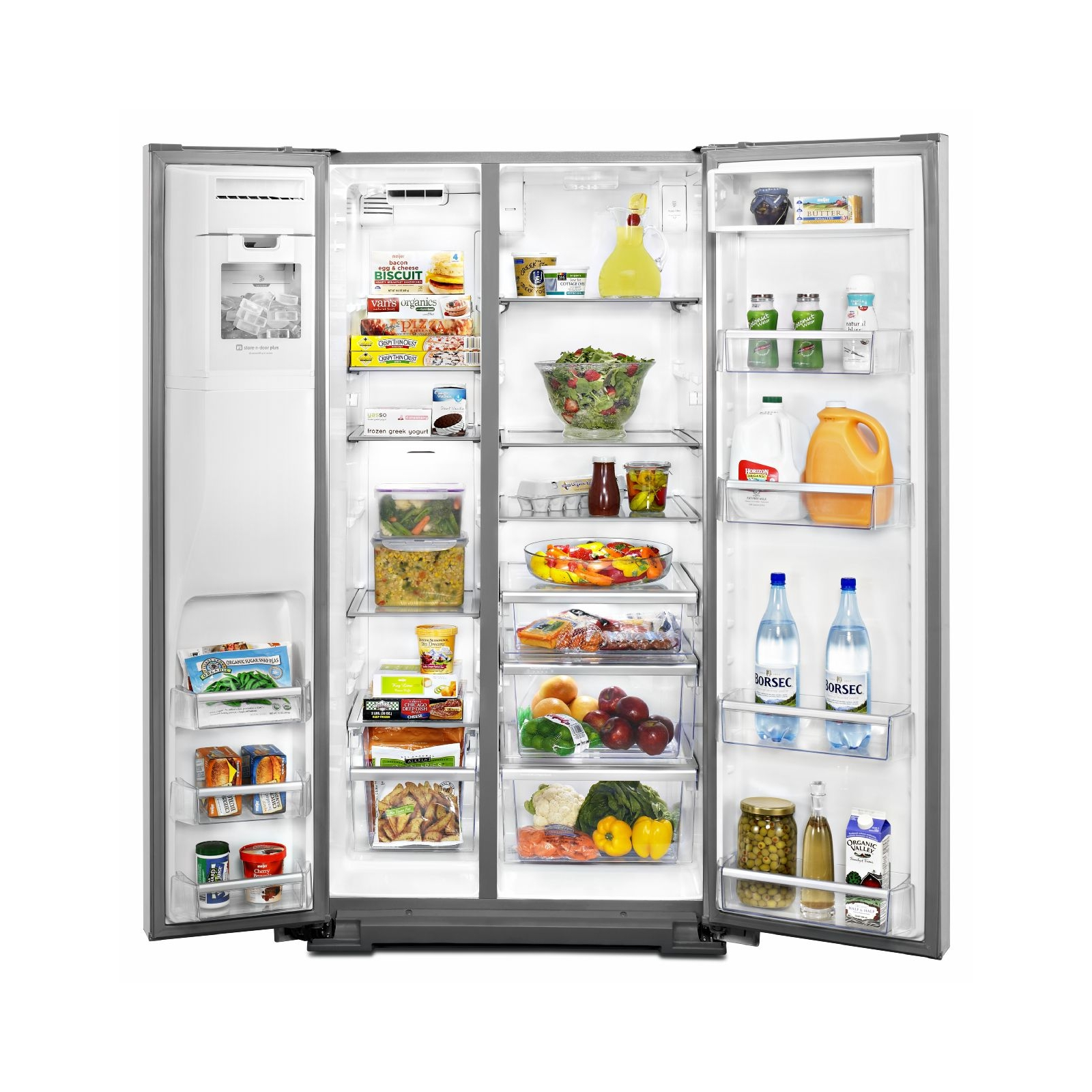 Maytag 26.5 cu. ft. Side-by-Side Refrigerator w/ Contoured Doors - Stainless Steel
