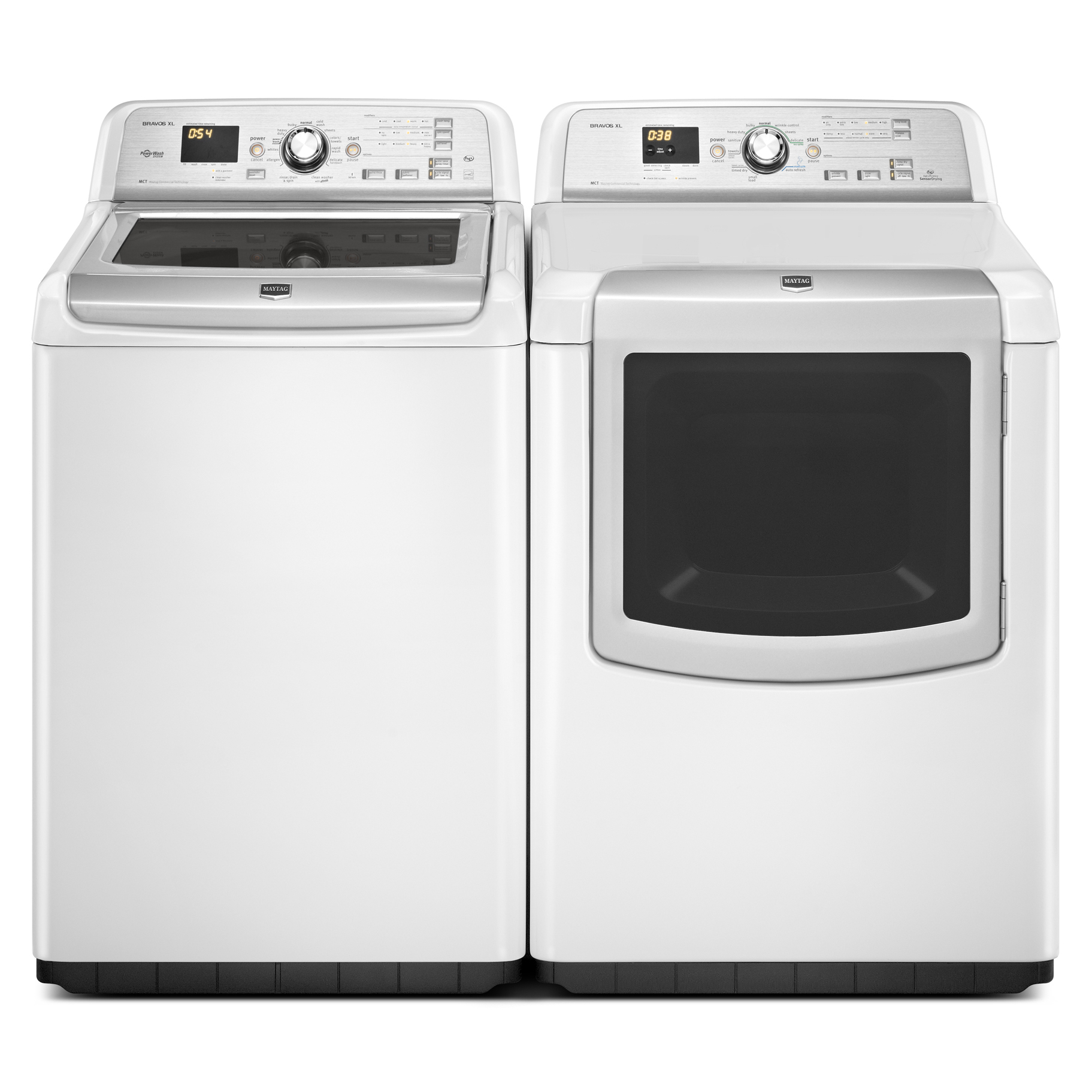 Maytag 7.3 cu. ft. Bravos XL® Gas Dryer w/ Sanitize Cycle - White