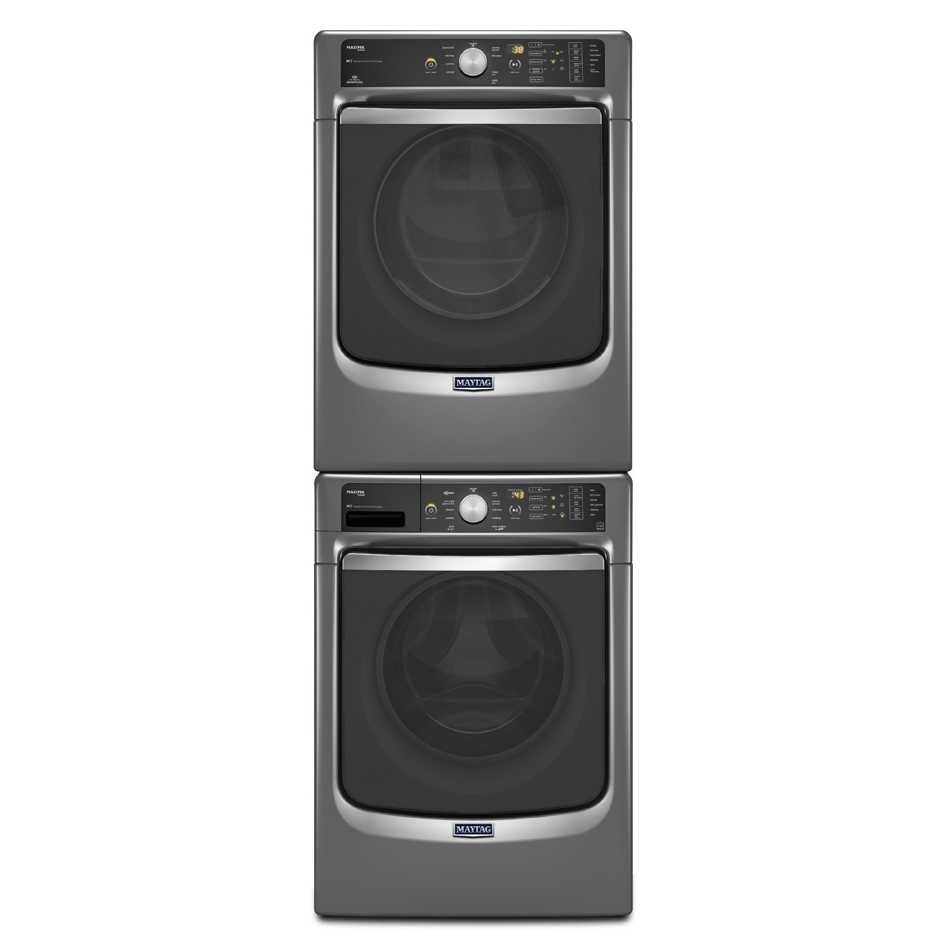 Maytag 7.4 cu. ft. Maxima® Electric Dryer w/ Stainless Steel Drum - Metallic Slate