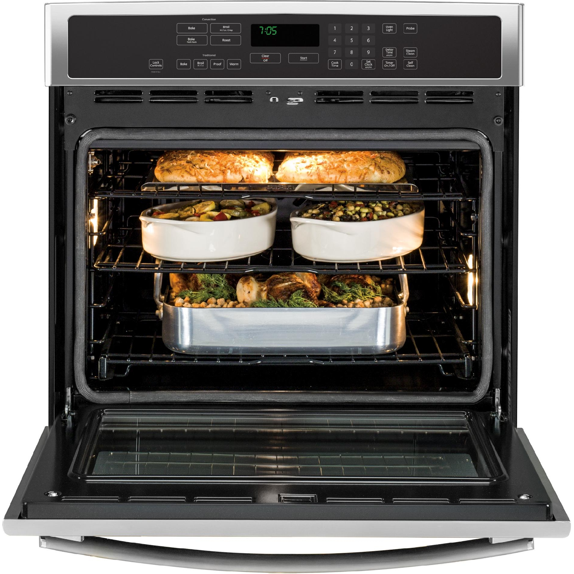 "GE Profile 30"" Electric Single Wall Oven w/ Convection - Stainless"