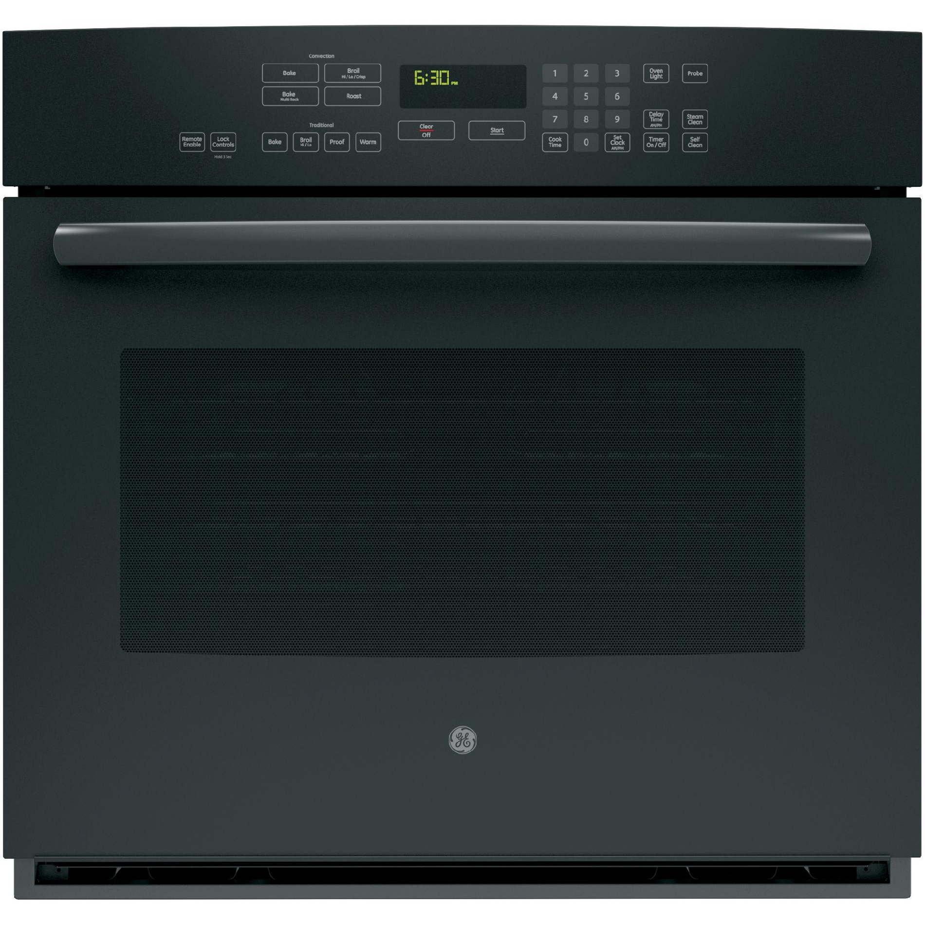 "GE Profile 30"" Electric Single Wall Oven w/ True Convection - Black"