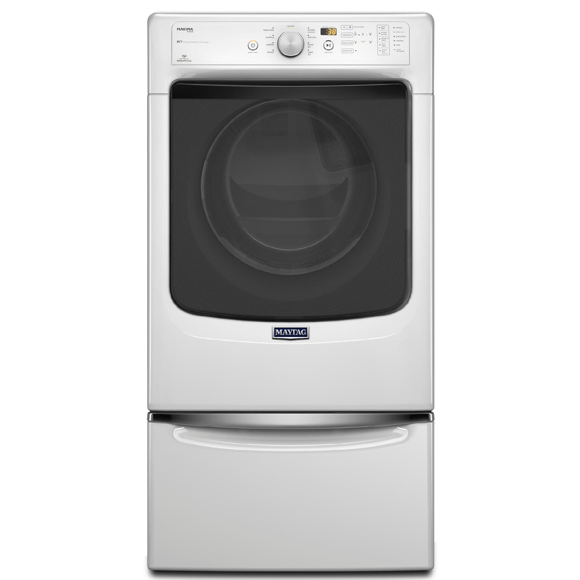 Maytag MGD5100DW 7.4 cu. ft. Maxima® Gas Dryer w/ Steam Cycle - White