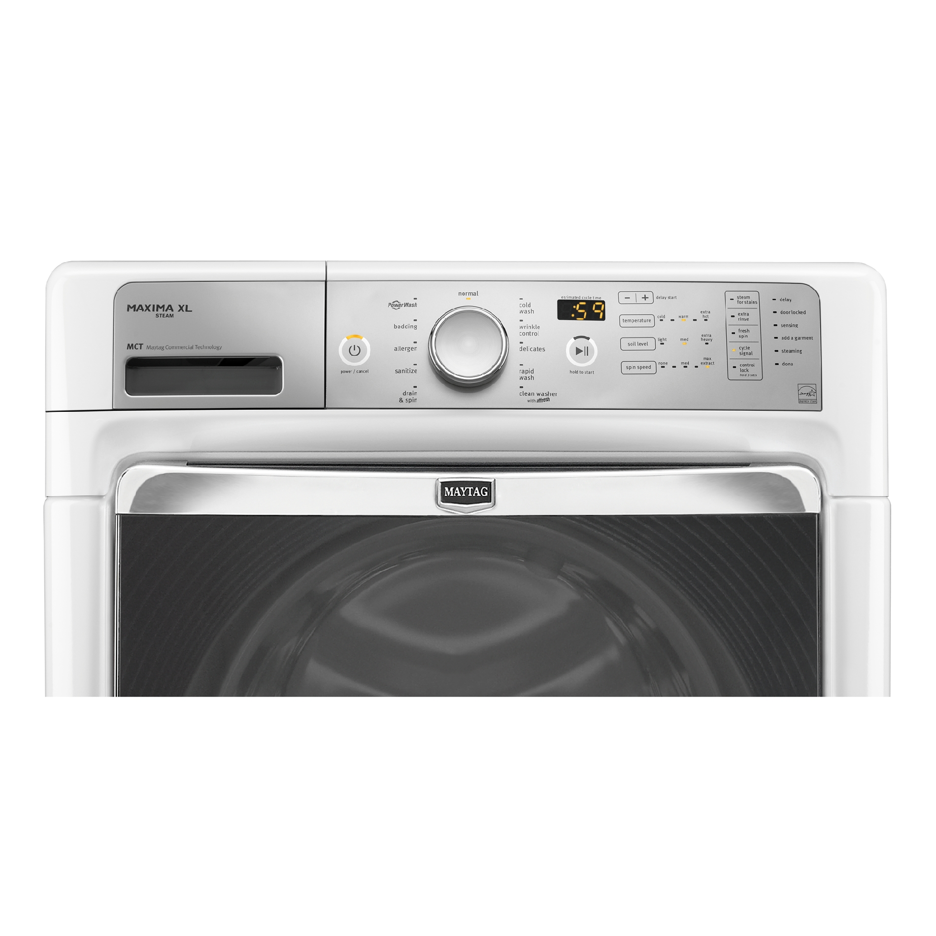 Maytag 4.3 cu. ft. Front-Load Washer w/ Steam - White