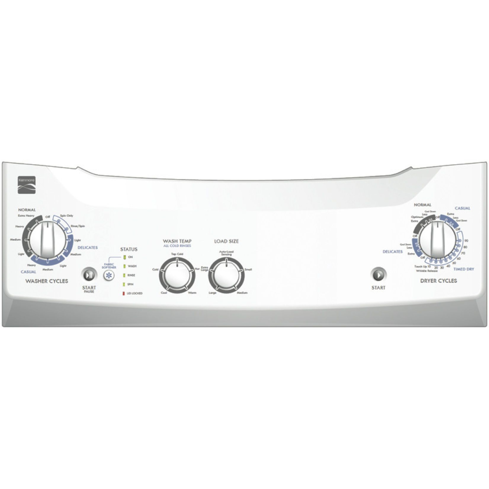 "Kenmore 27"" Laundry Center w/ Electric Dryer - White"