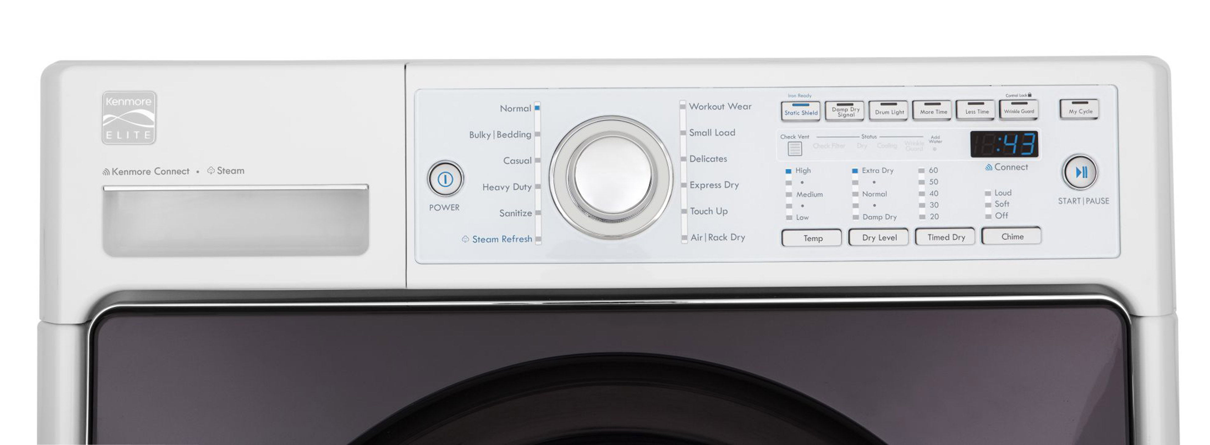 Kenmore Elite 7.3 cu. ft. Electric Steam Dryer - White