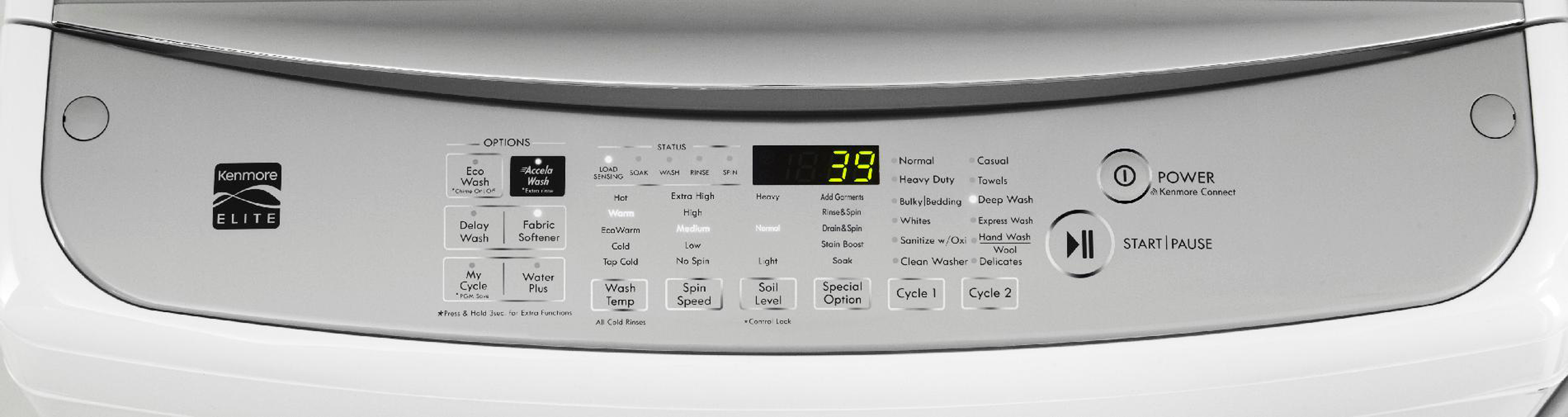 Kenmore Elite 5.0 cu. ft. Top-Load Washer - White