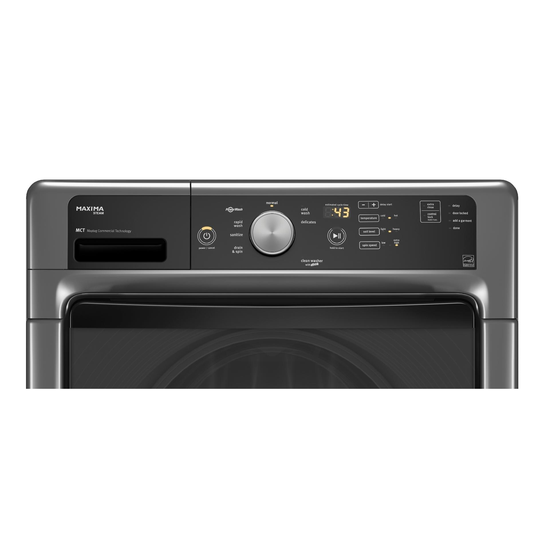 Maytag MHW5100DC 4.5 cu. ft. Maxima® Front-Load Washer w/ Advanced Vibration Control - Metallic Slate
