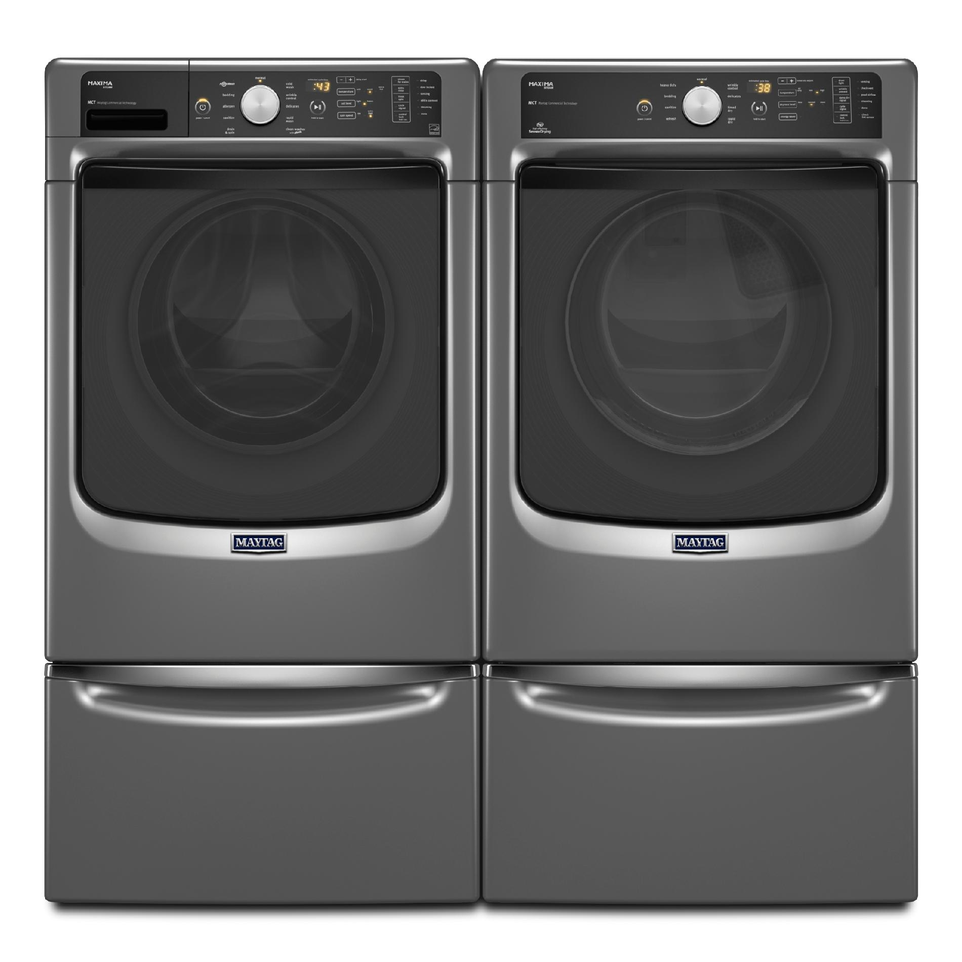 Maytag 7.4 cu. ft. Maxima® Electric Dryer w/ Steam Cycle - Metallic Slate