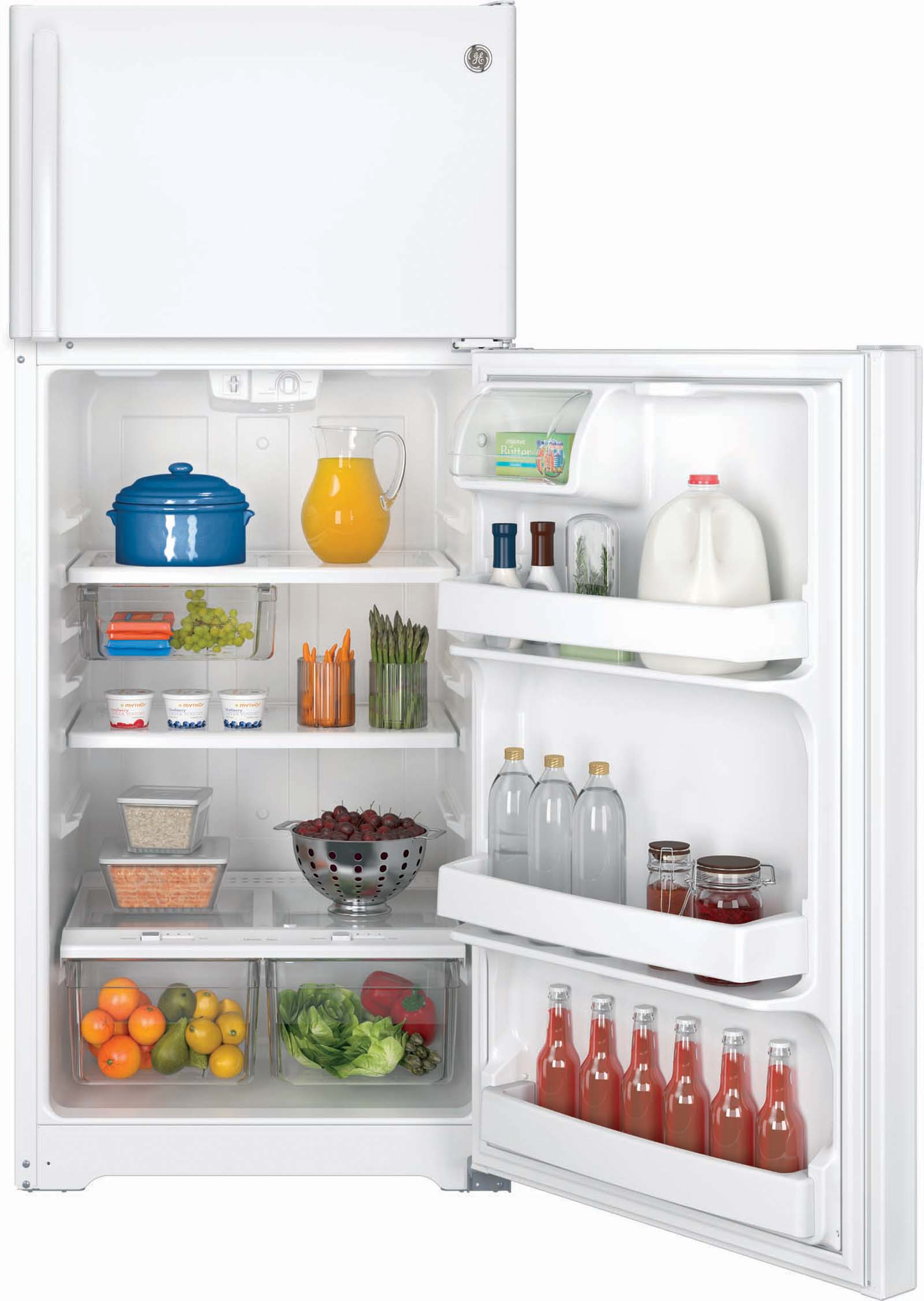 GE Appliances GTS18GTHWW 17.5 cu. ft. Top-Freezer Refrigerator - White