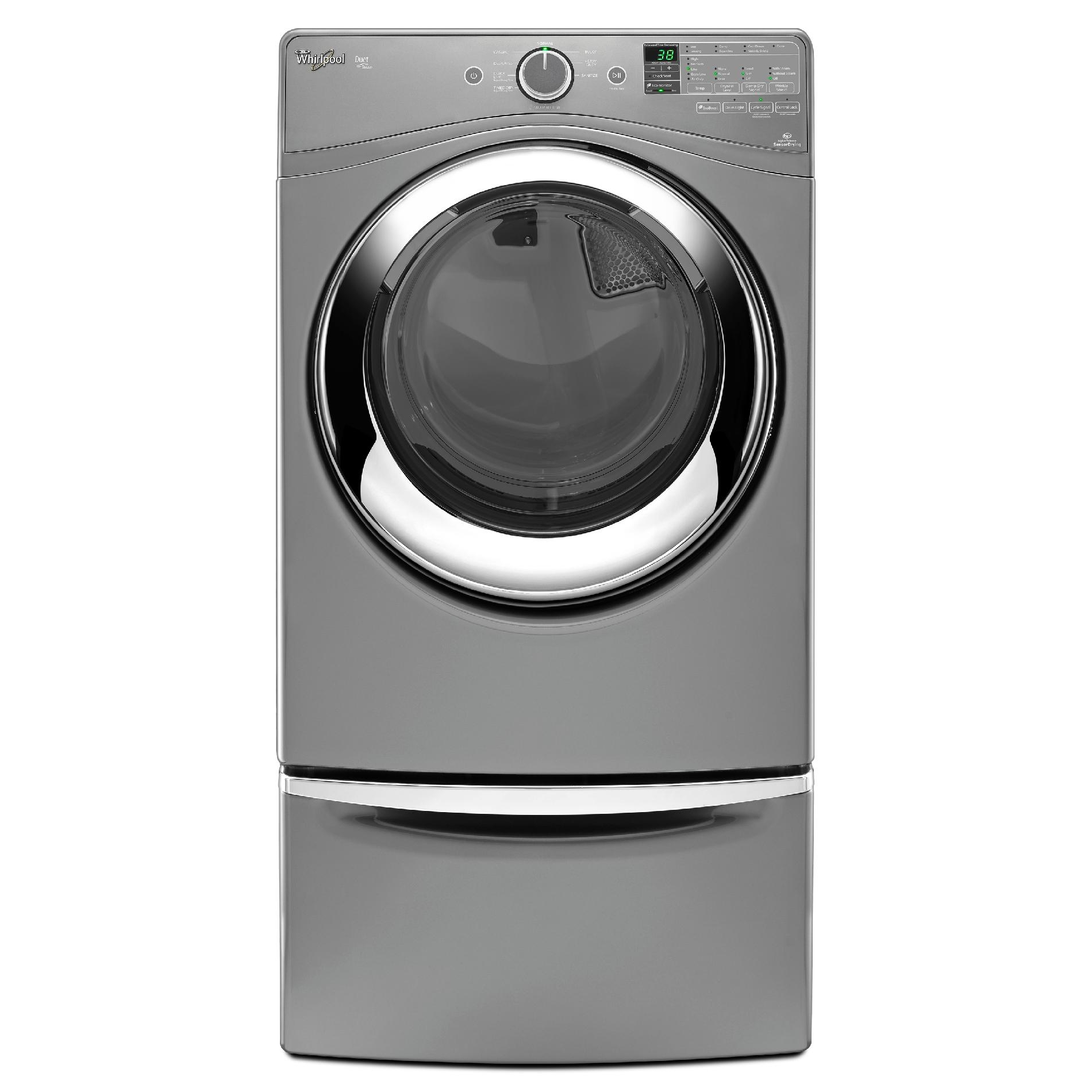 Whirlpool WGD98HEDC 7.4 cu. ft. Duet® Gas Dryer w/ Steam Refresh - Chrome Shadow