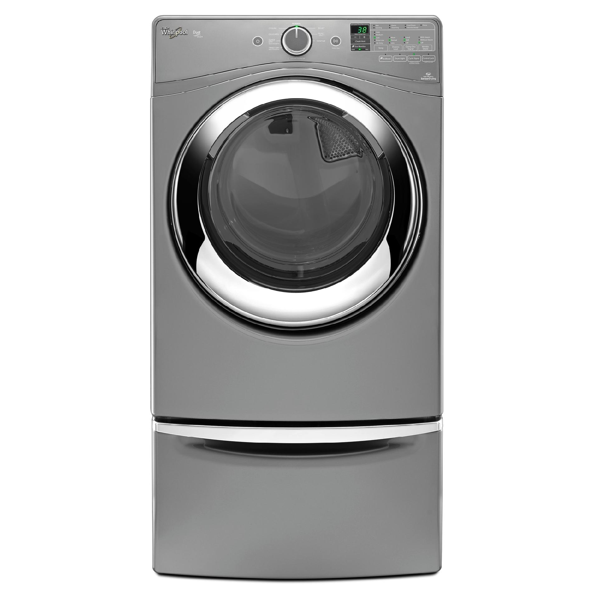 Whirlpool WED87HEDC 7.4 cu. ft. Duet® Electric Dryer w/ Steam Refresh - Chrome Shadow