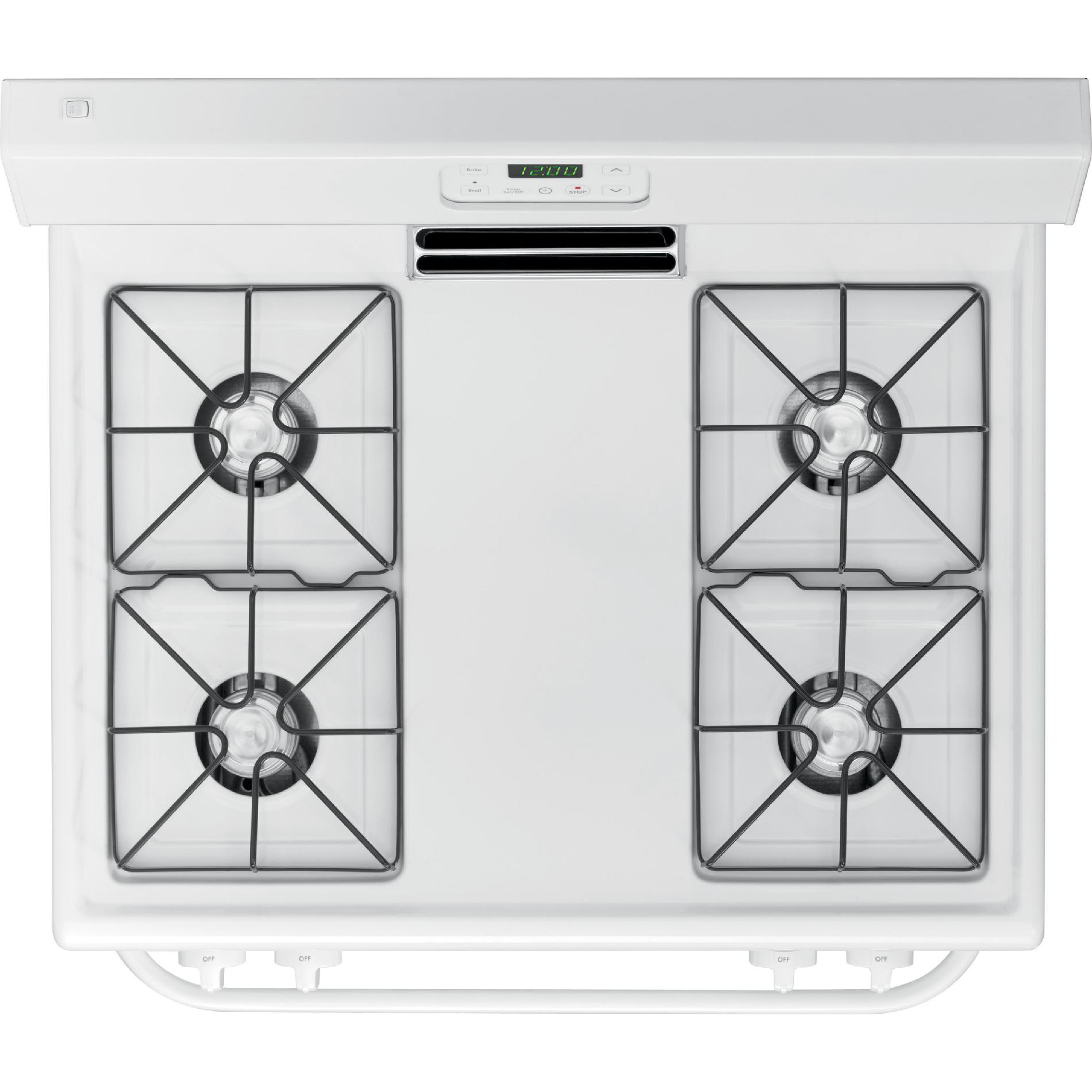 Kenmore 73032 4.2 cu. ft. Freestanding Gas Range w/ Broil & Serve™ Drawer - White