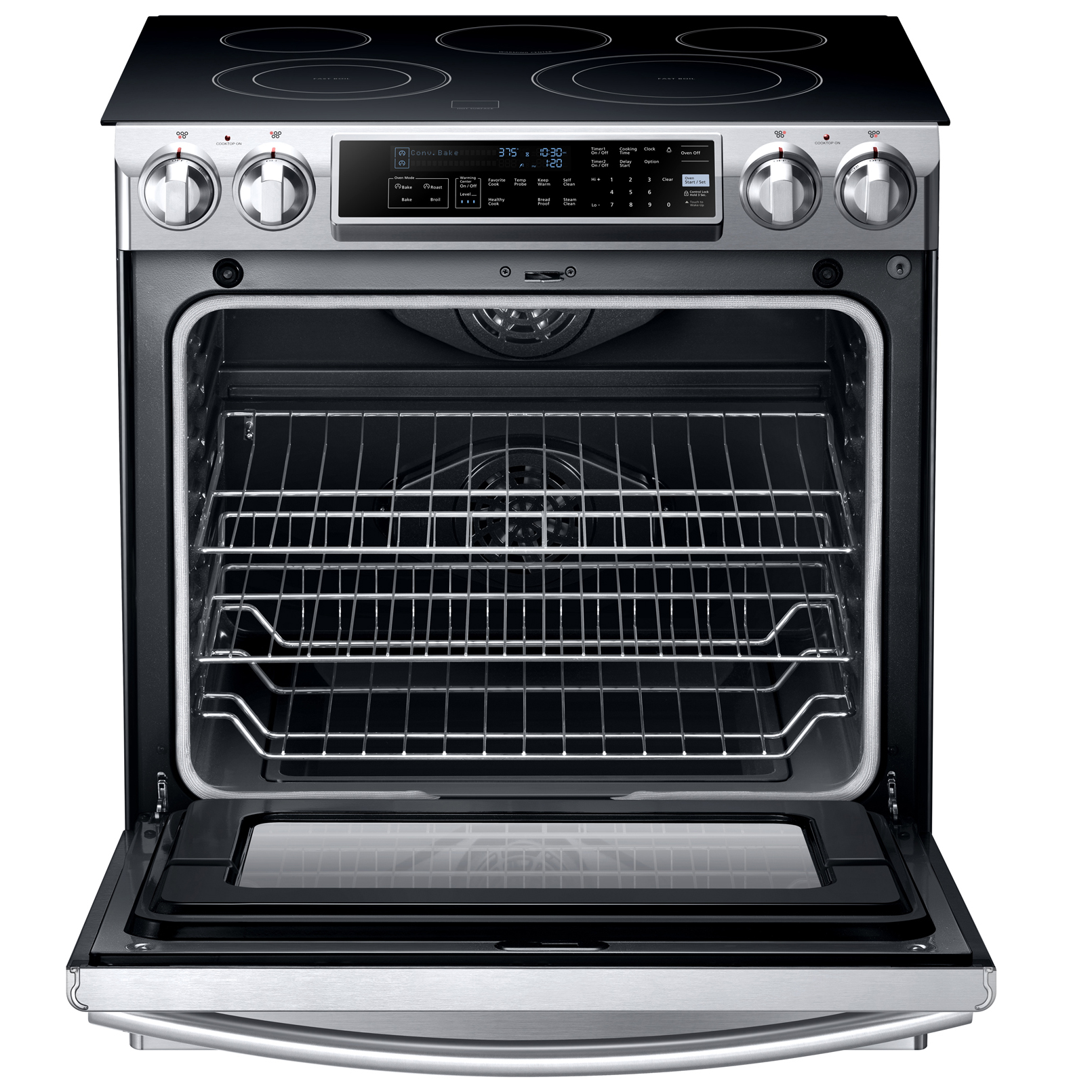 "Samsung NE58F9500SS 30"" Slide-In Electric Range - Stainless Steel"