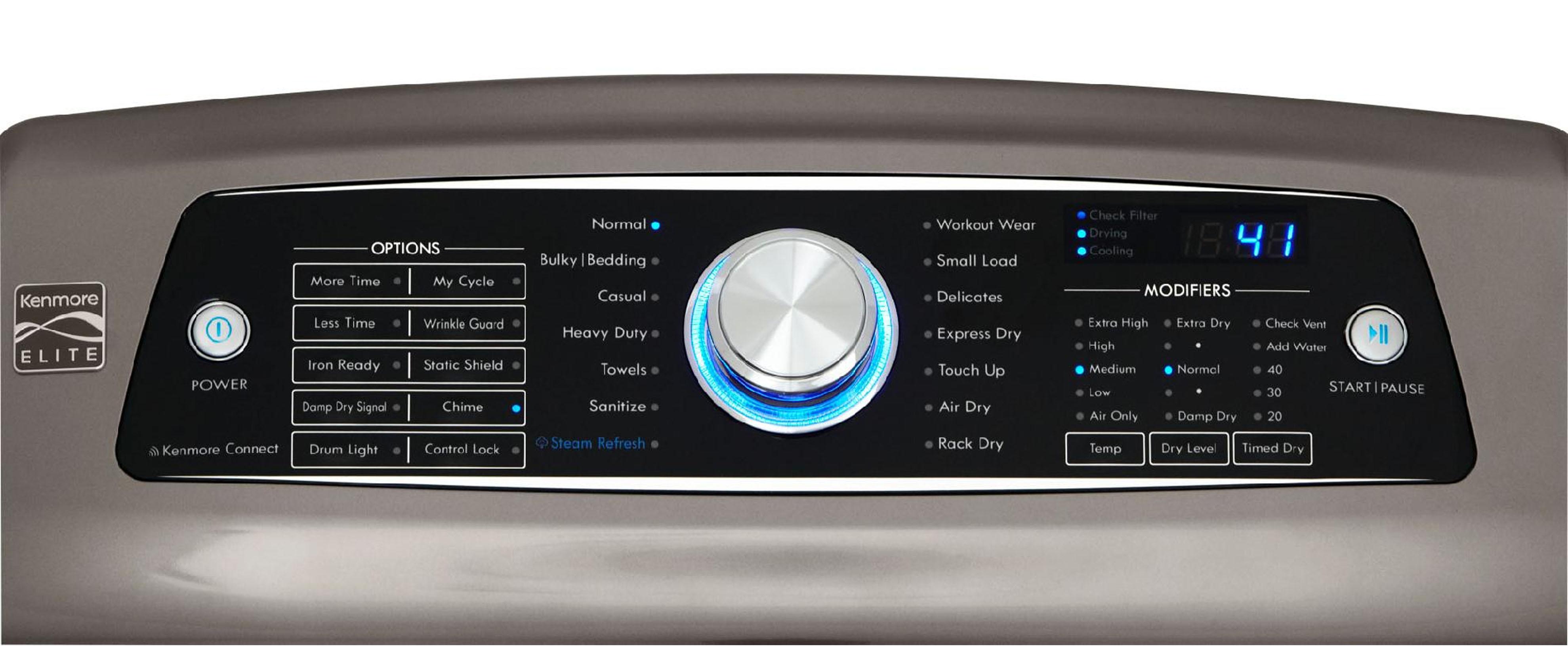 Kenmore Elite 7.3 cu. ft. Electric Dryer w/ Steam – Metallic Gray