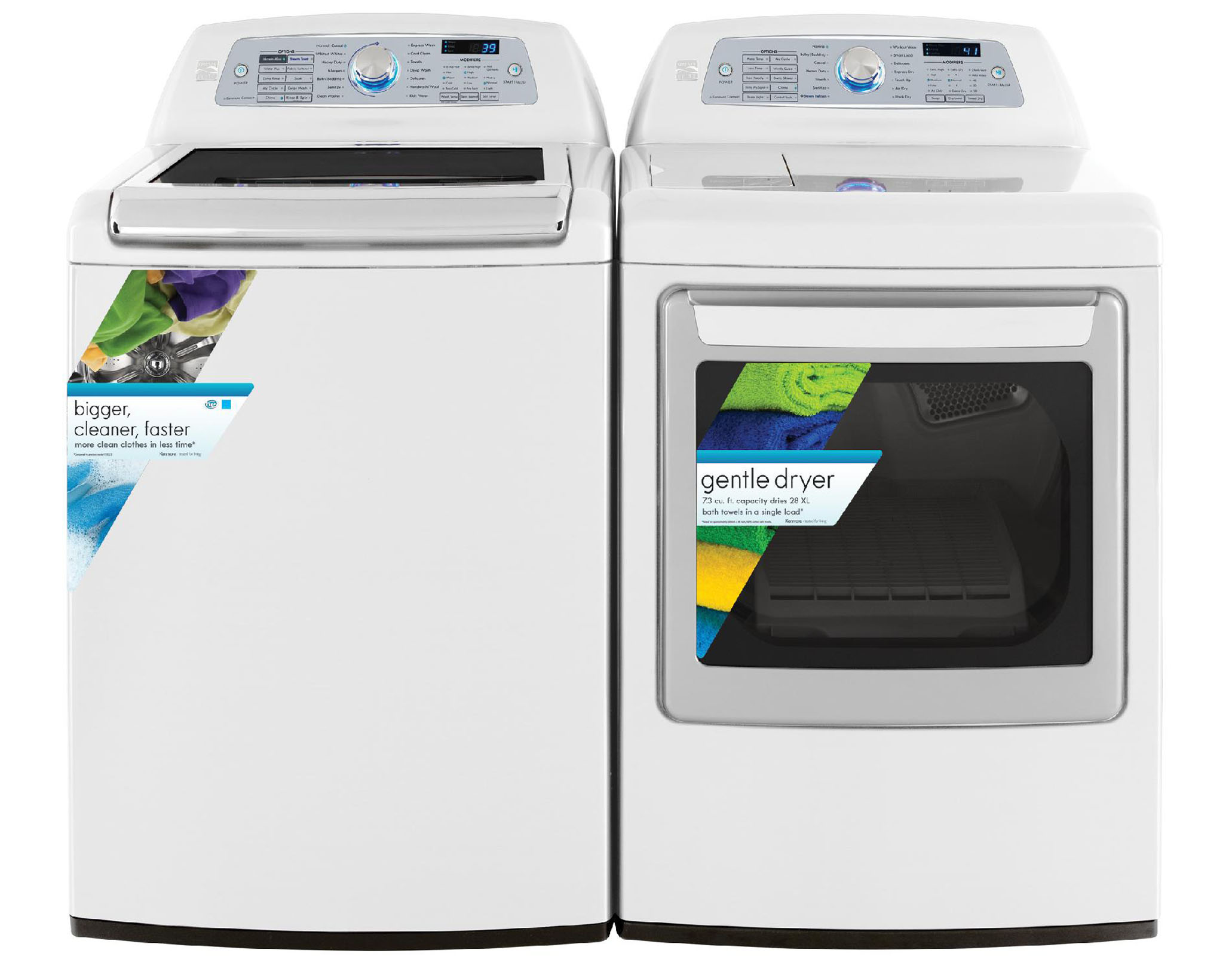 Kenmore Elite 7.3 cu. ft. Electric Dryer w/ Steam– White