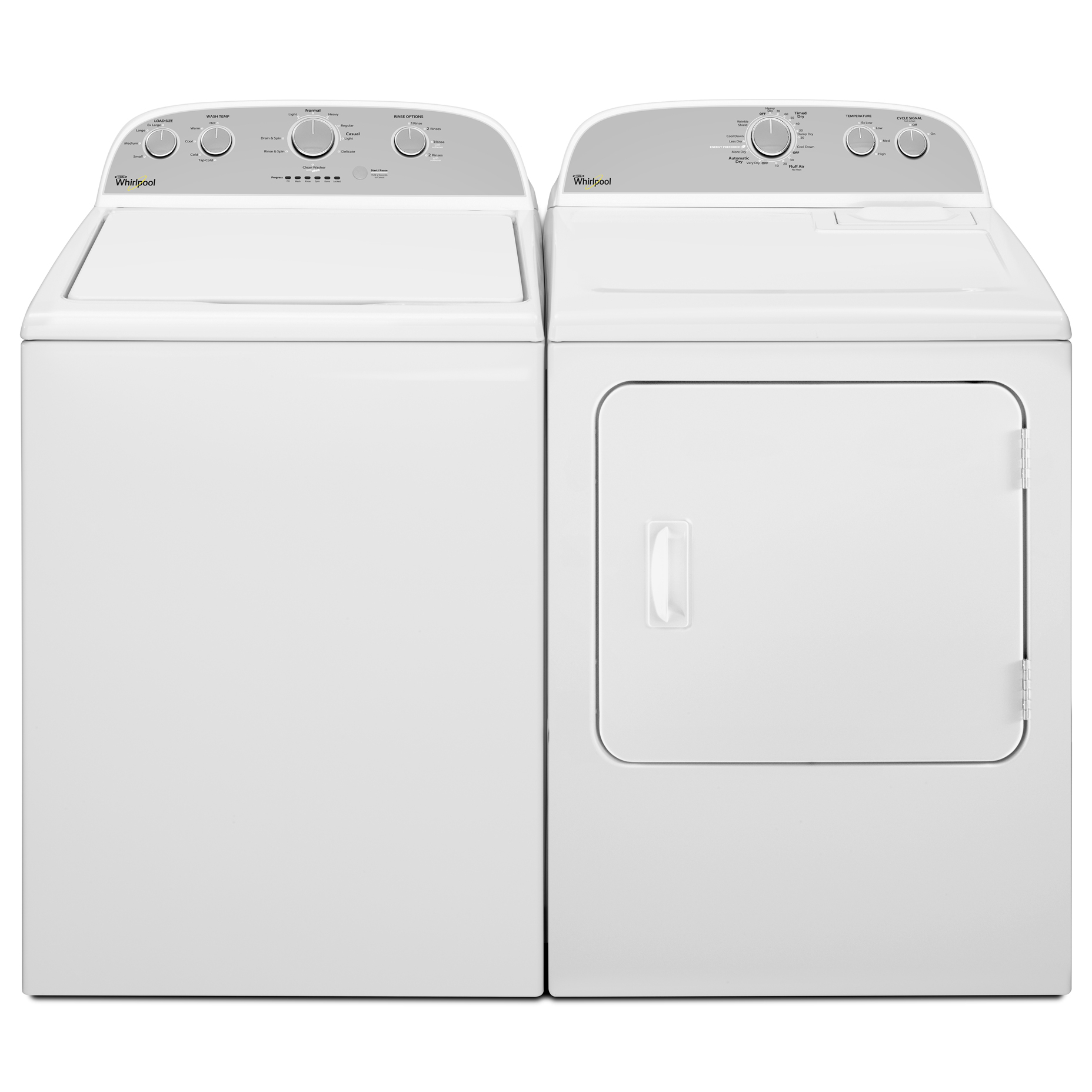 Whirlpool WTW4800BQ 3.6 cu. ft. Top-Load Washer w/ Care Control Temperature Management - White