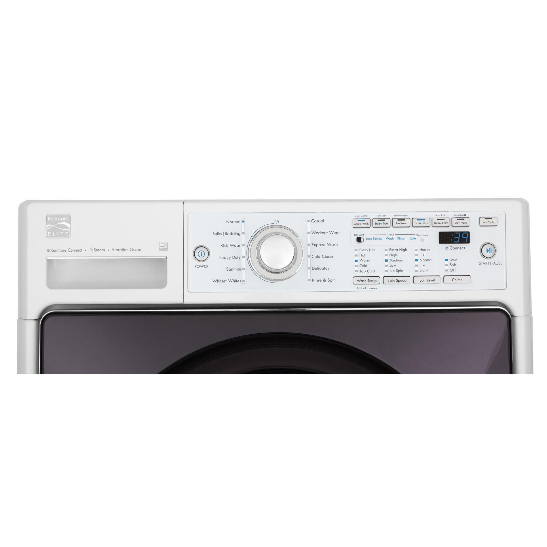 Kenmore Elite 4.0 cu. ft. Front-Load Steam Washer - White