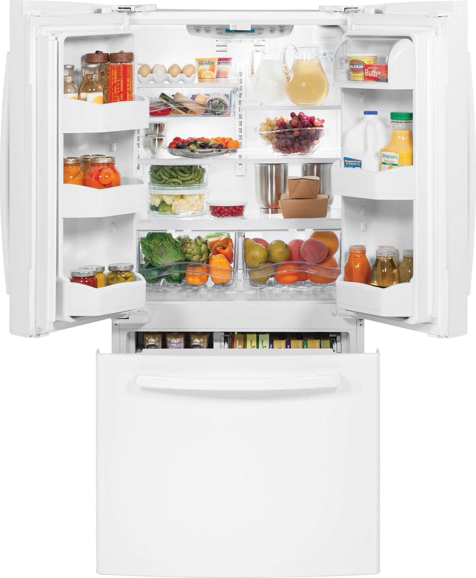 GE Appliances GNS23GGHWW 22.7 cu. ft. French-Door Refrigerator - White