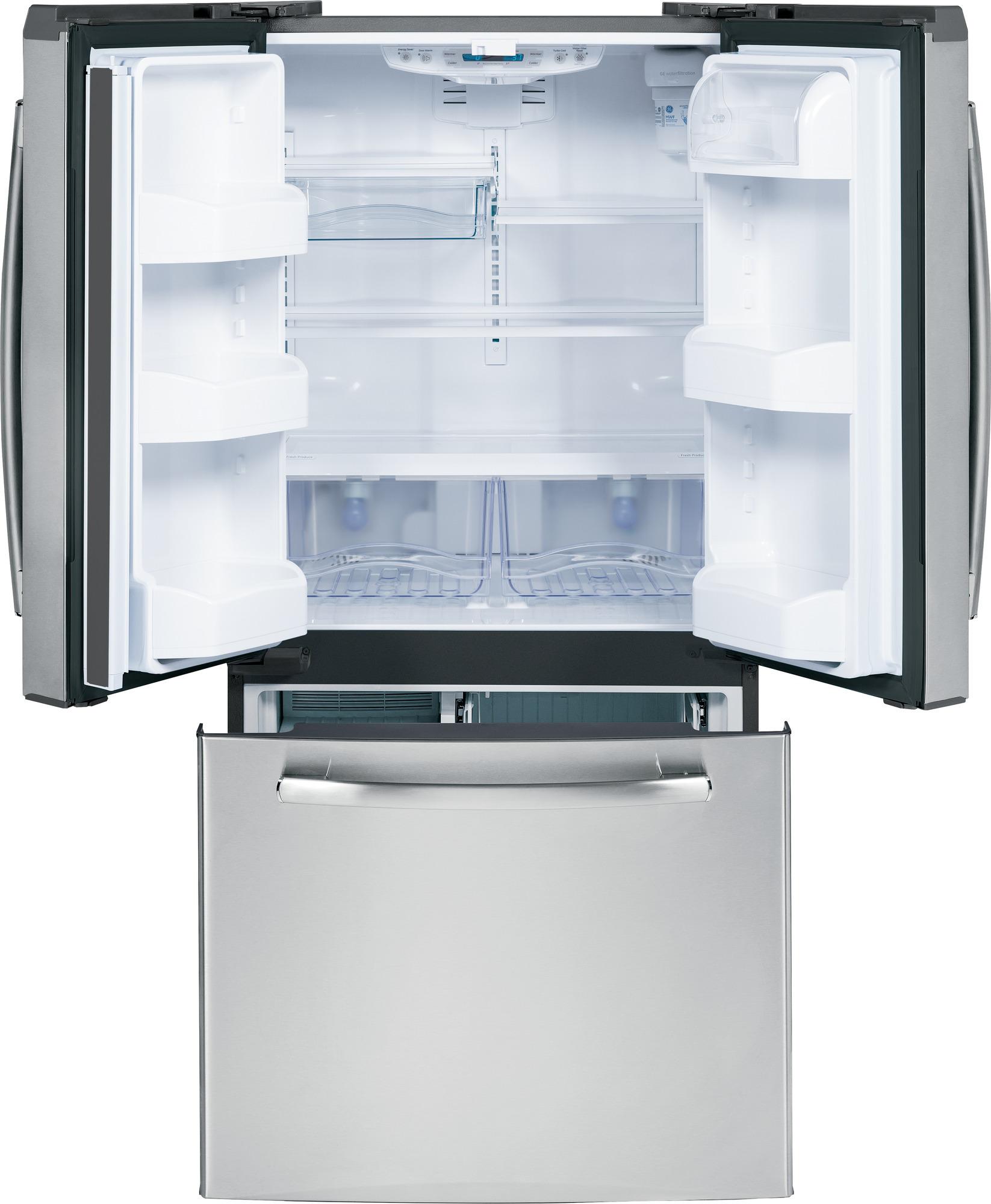 GE Appliances GNS23GSHSS 22.7 cu. ft. French-Door Refrigerator - Stainless Steel