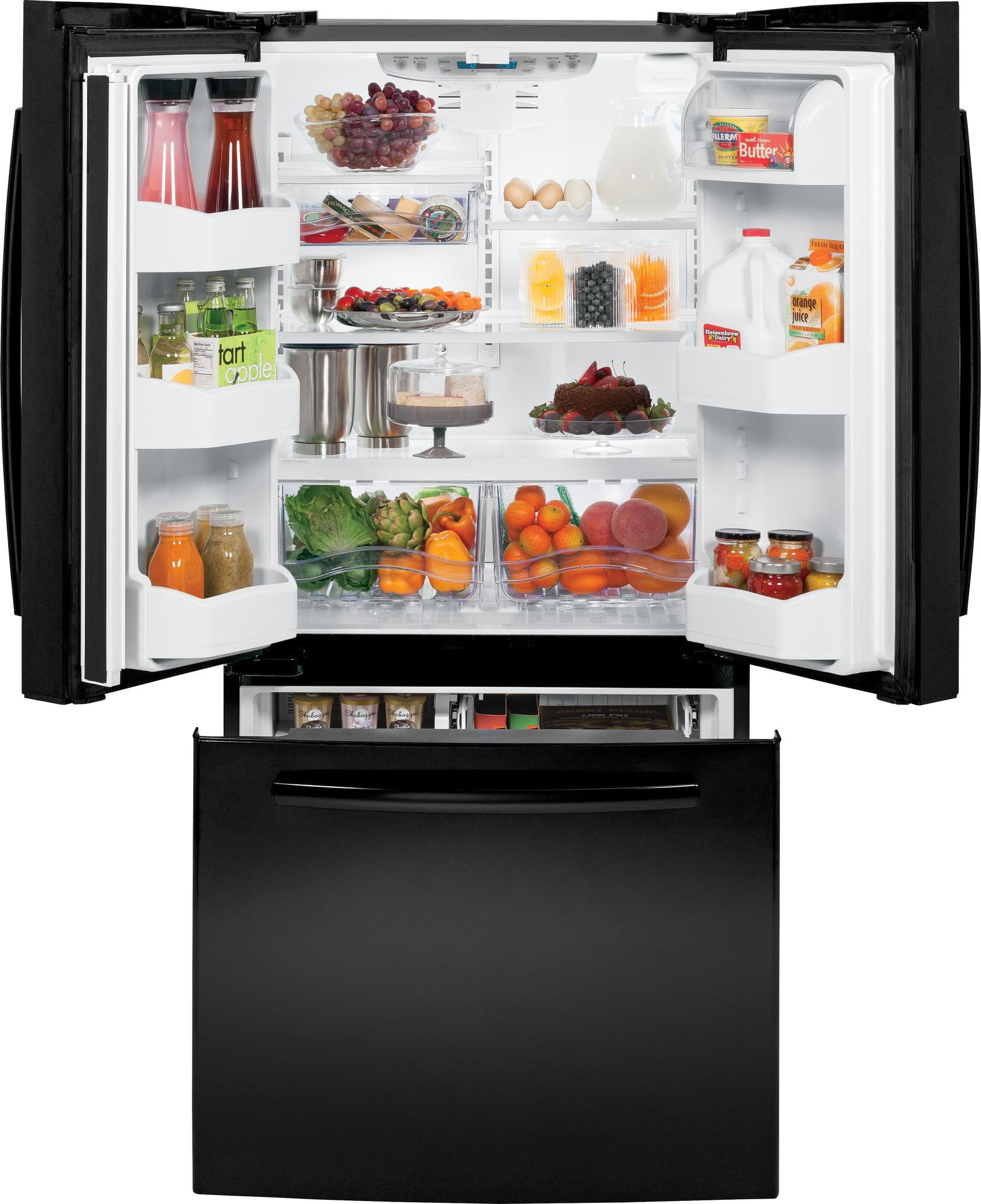 GE Appliances GNS23GGHBB 22.7 cu. ft. French-Door Refrigerator - Black