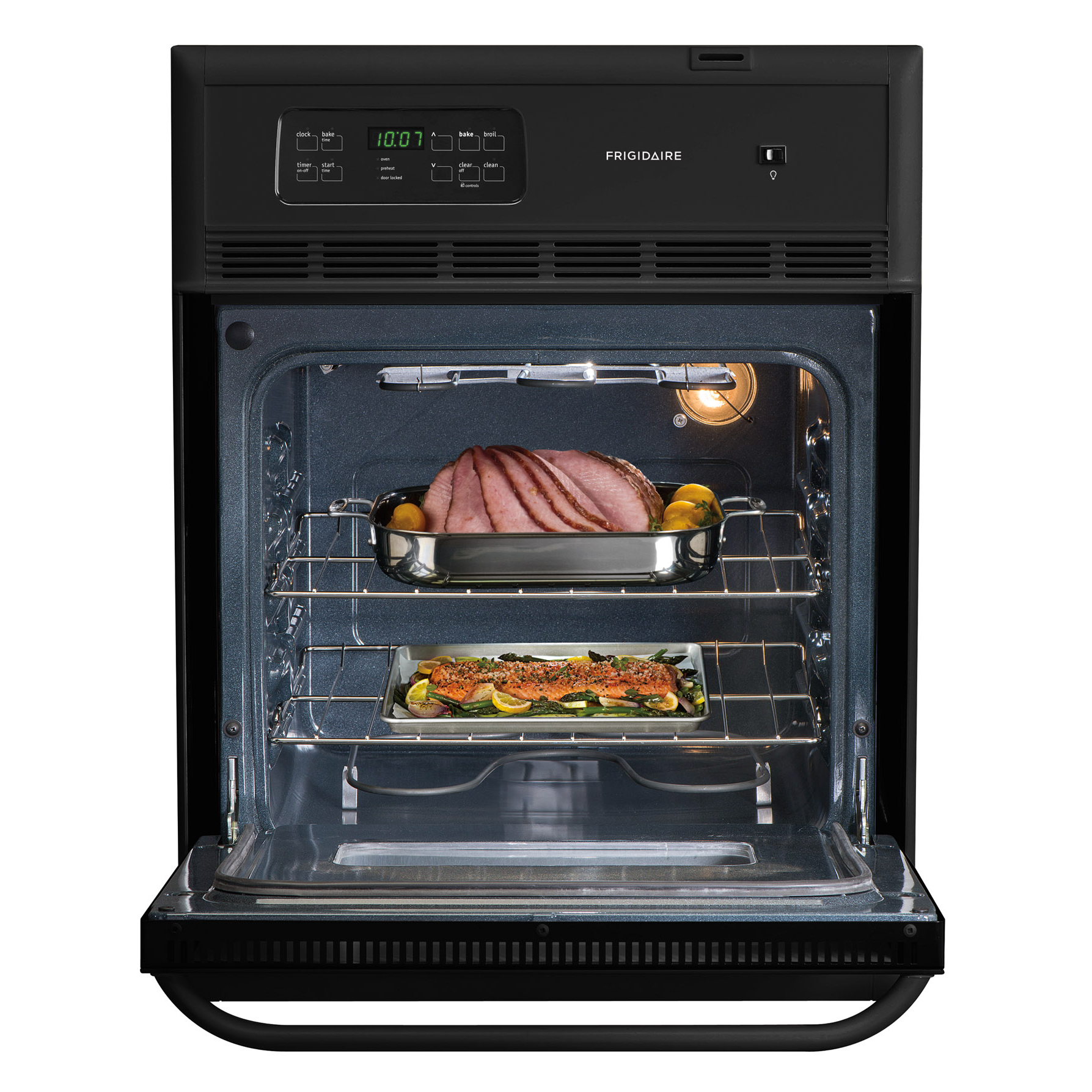 """Frigidaire 24"""" Electric Single Wall Oven - Black"""