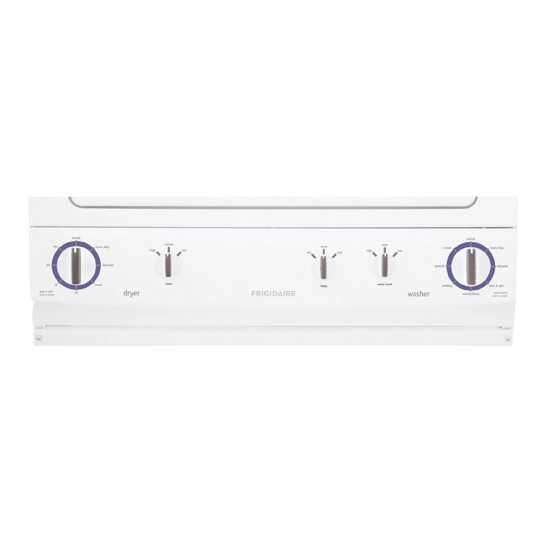 "Frigidaire 27"" Electric Stacked Laundry Center - White FFLE2022MW"