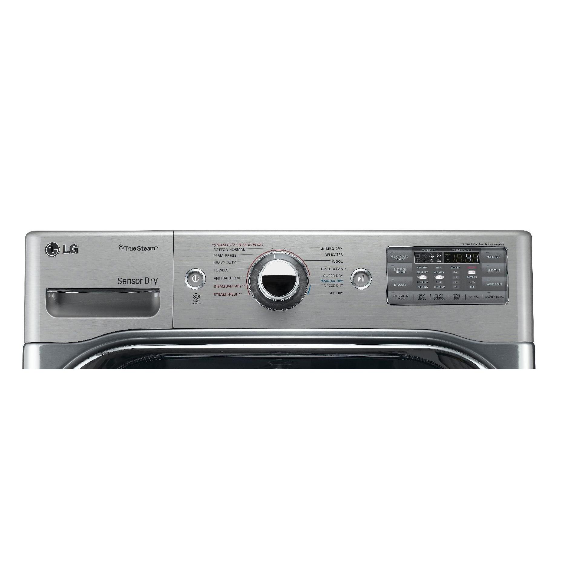 LG DLGX8001V 9.0 cu. ft. Mega-Capacity Steam Gas Dryer w/ Sensor Dry - Graphite Steel