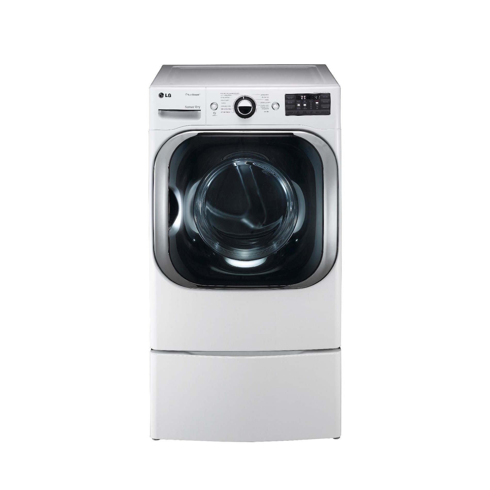 LG DLEX8000W 9.0 cu. ft. Mega-Capacity Steam Electric Dryer w/ Sensor Dry - White