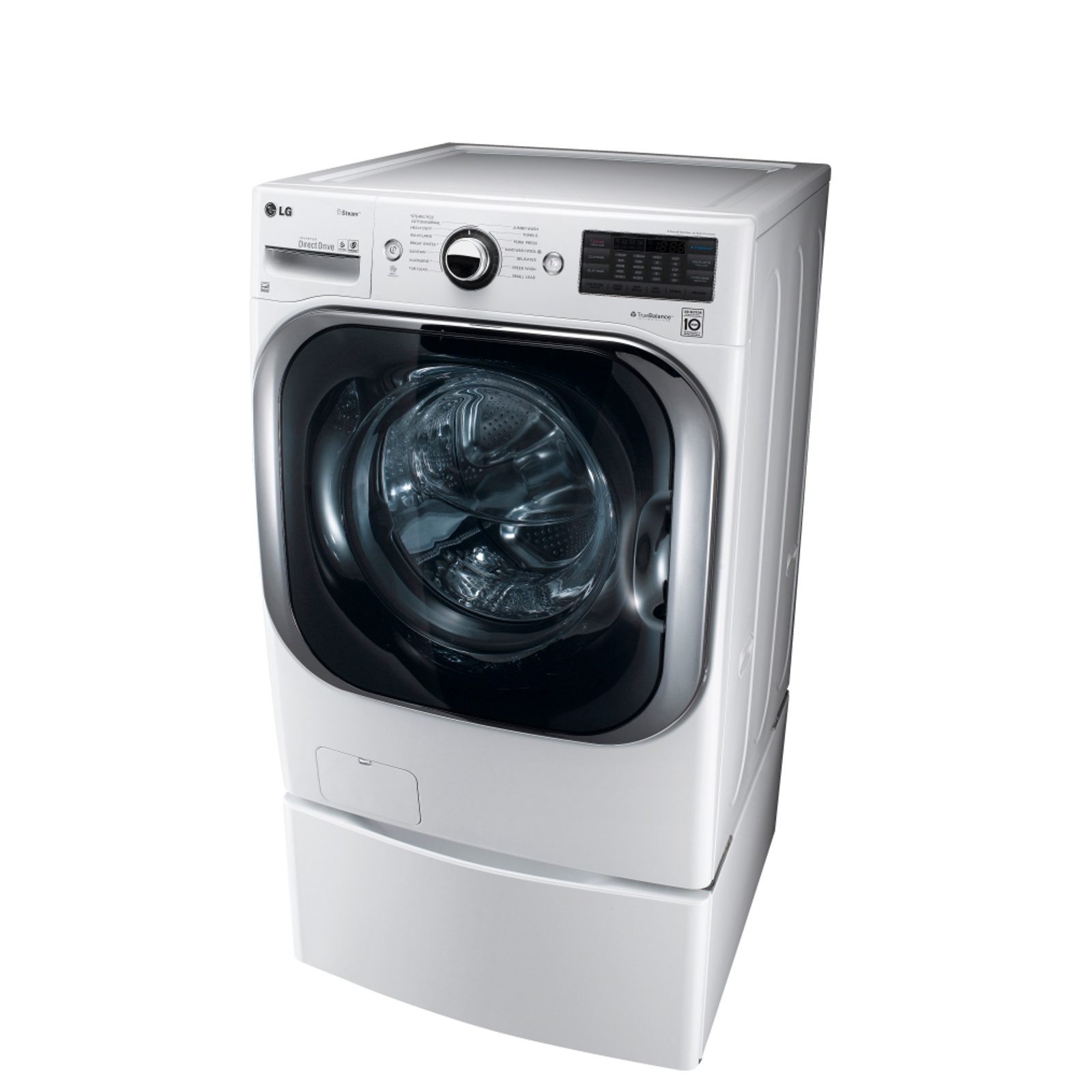 LG 5.2 cu. ft. Mega-Capacity Steam Front- Load Washer  - White