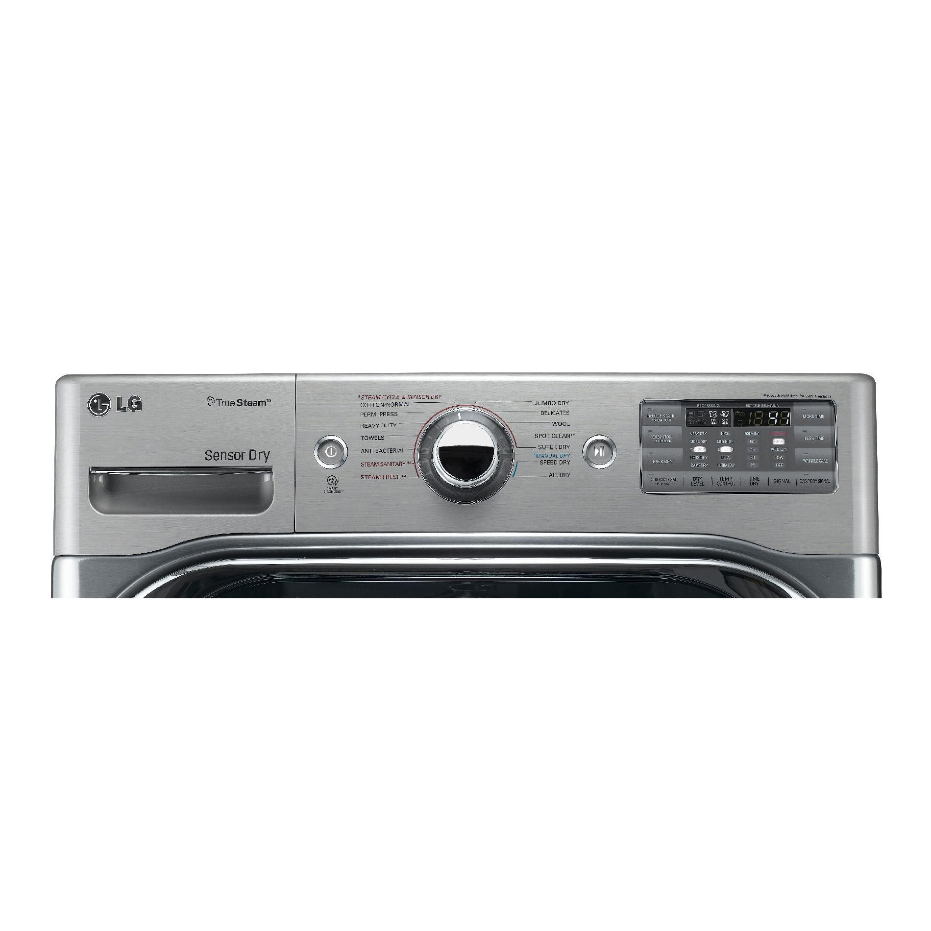 LG DLEX8000V 9.0 cu. ft. Mega-Capacity Steam Electric Dryer w/ Sensor Dry - Graphite Steel