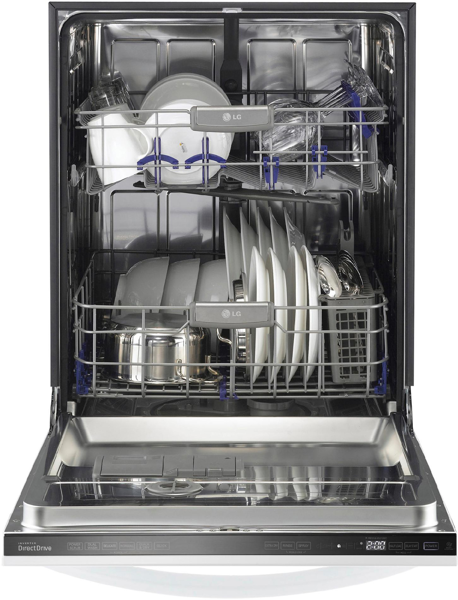 "LG 24"" Fully Integrated Dishwasher w/ Flexible Rack System - White"