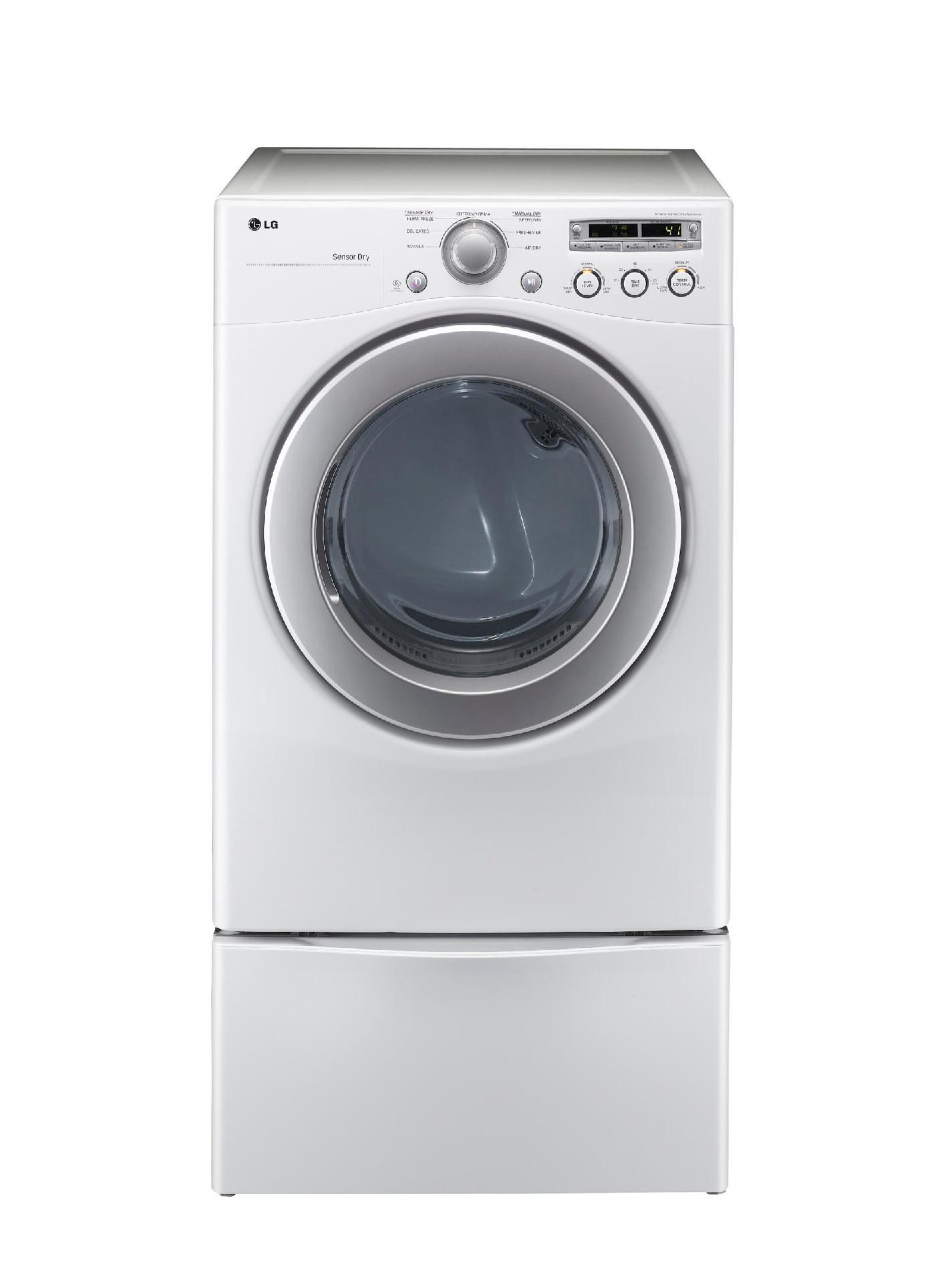 LG 7.1 cu. ft. Extra Large Capacity Gas Dryer with Sensor Dry - White