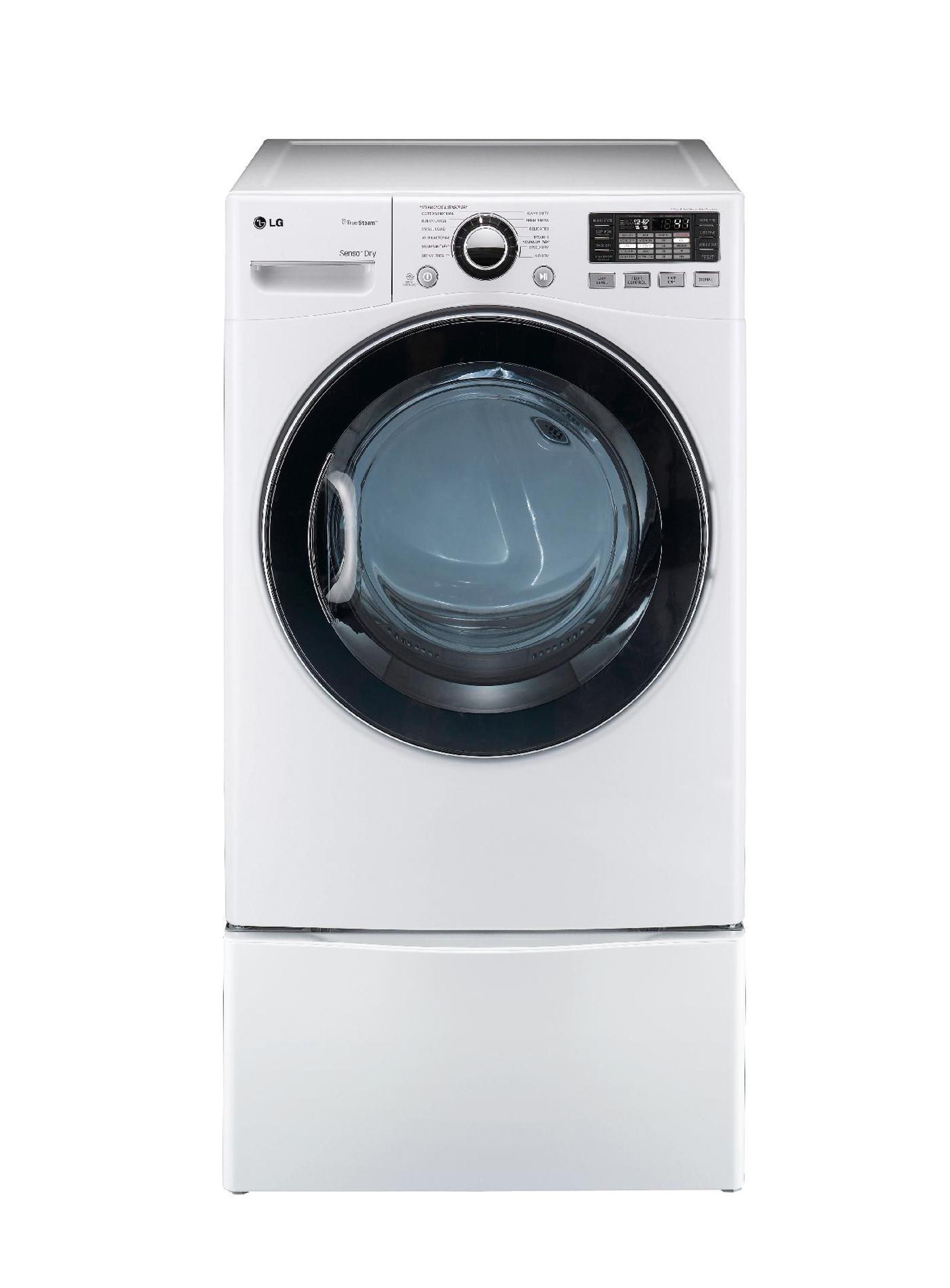 LG 7.3 cu. ft. Steam  Gas Dryer w/ Sensor Dry - White