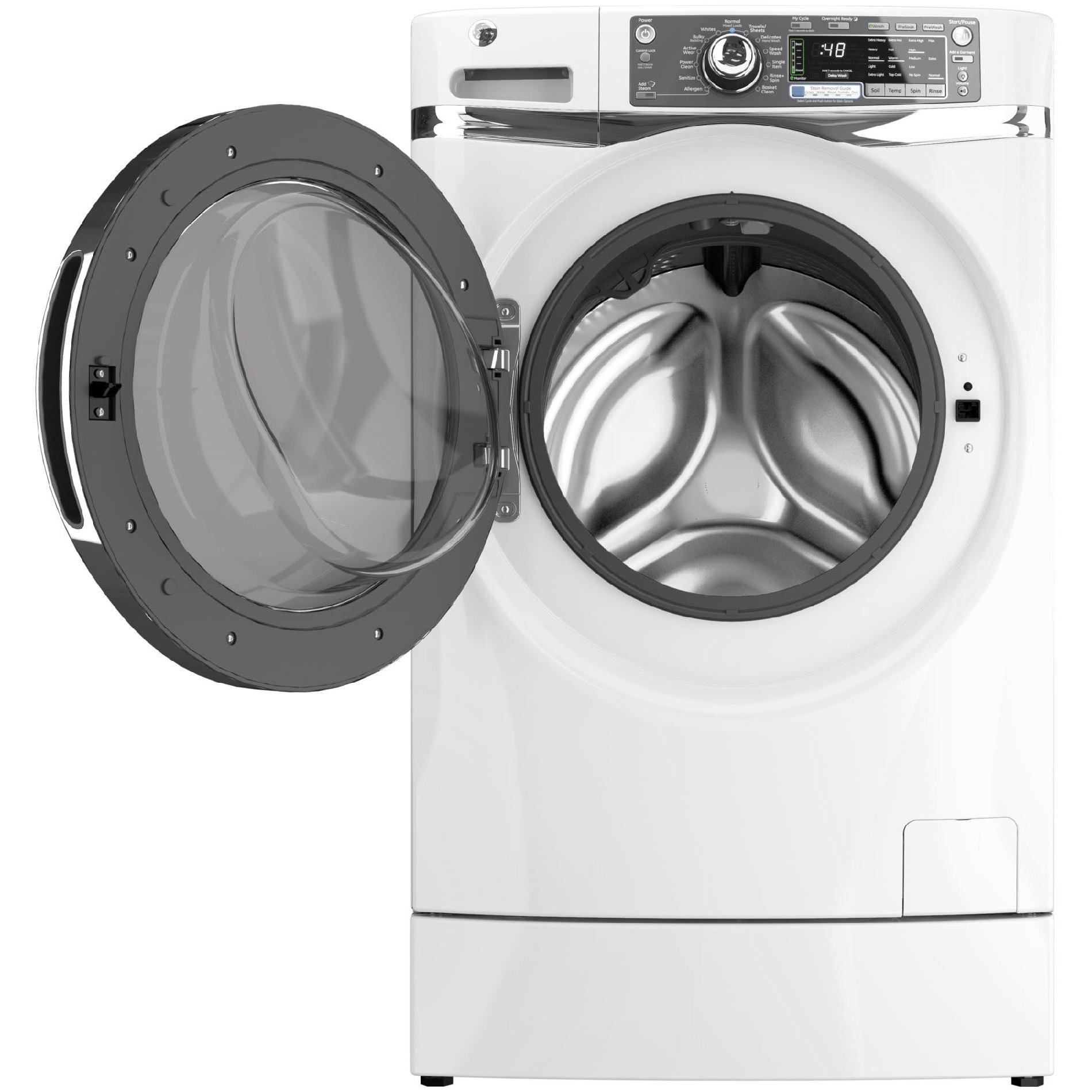 GE Appliances 4.8 cu. ft. RightHeight™ Design Front-Load Washer - White