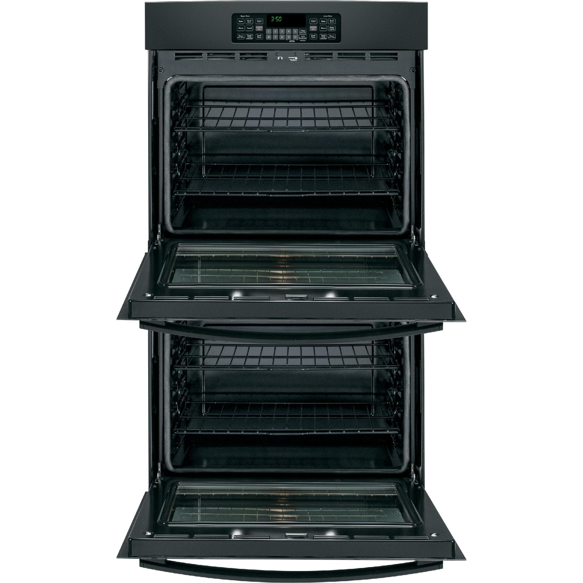 "GE Appliances 30"" Double Electric Wall Oven - Black"