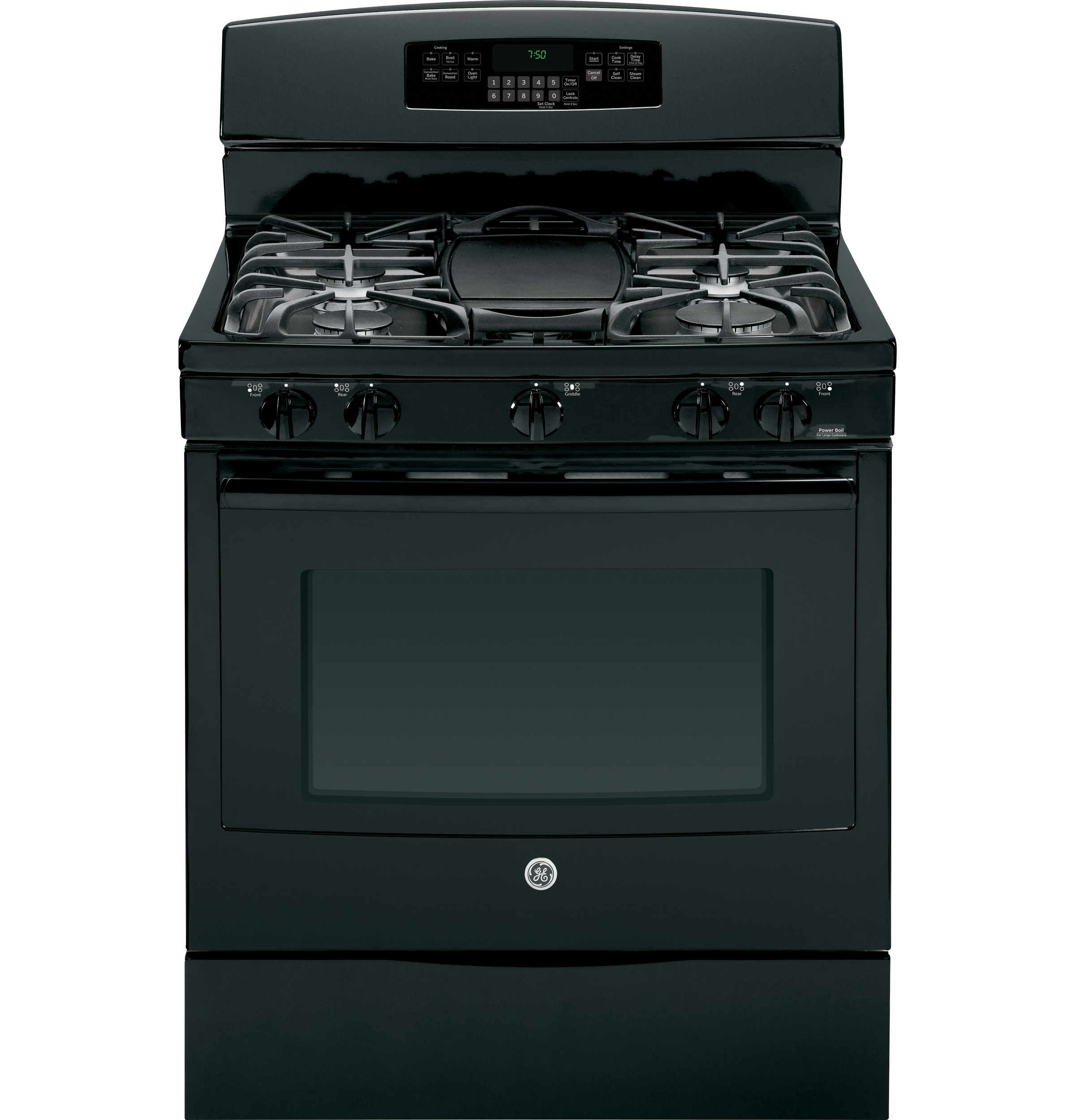 GE Appliances 5.6 cu. ft. Gas Range w/ Convection - Black