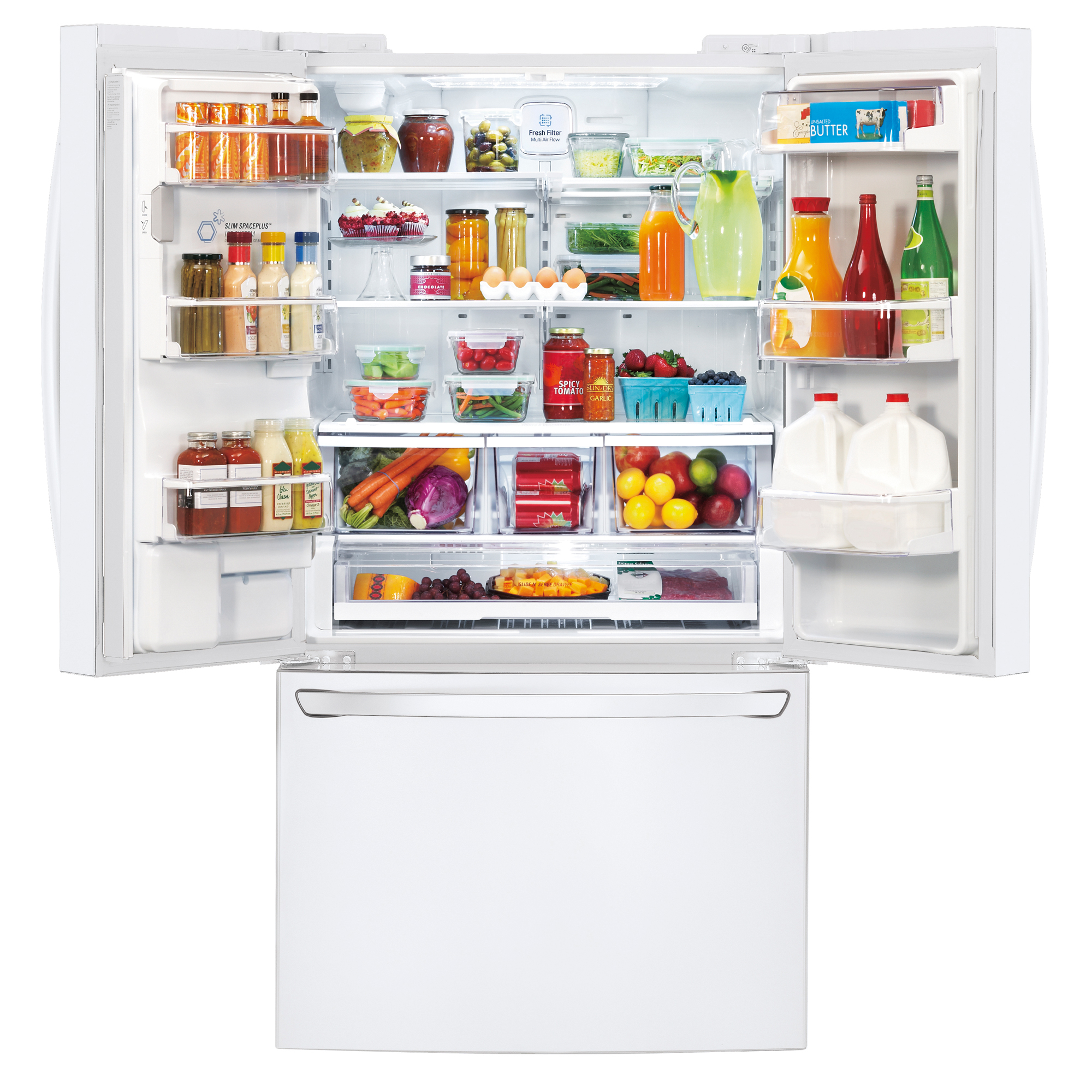 LG LFXS29626W 28.8 cu. ft. Ultra-Capacity French Door Refrigerator w/ Smart Cooling Plus - White