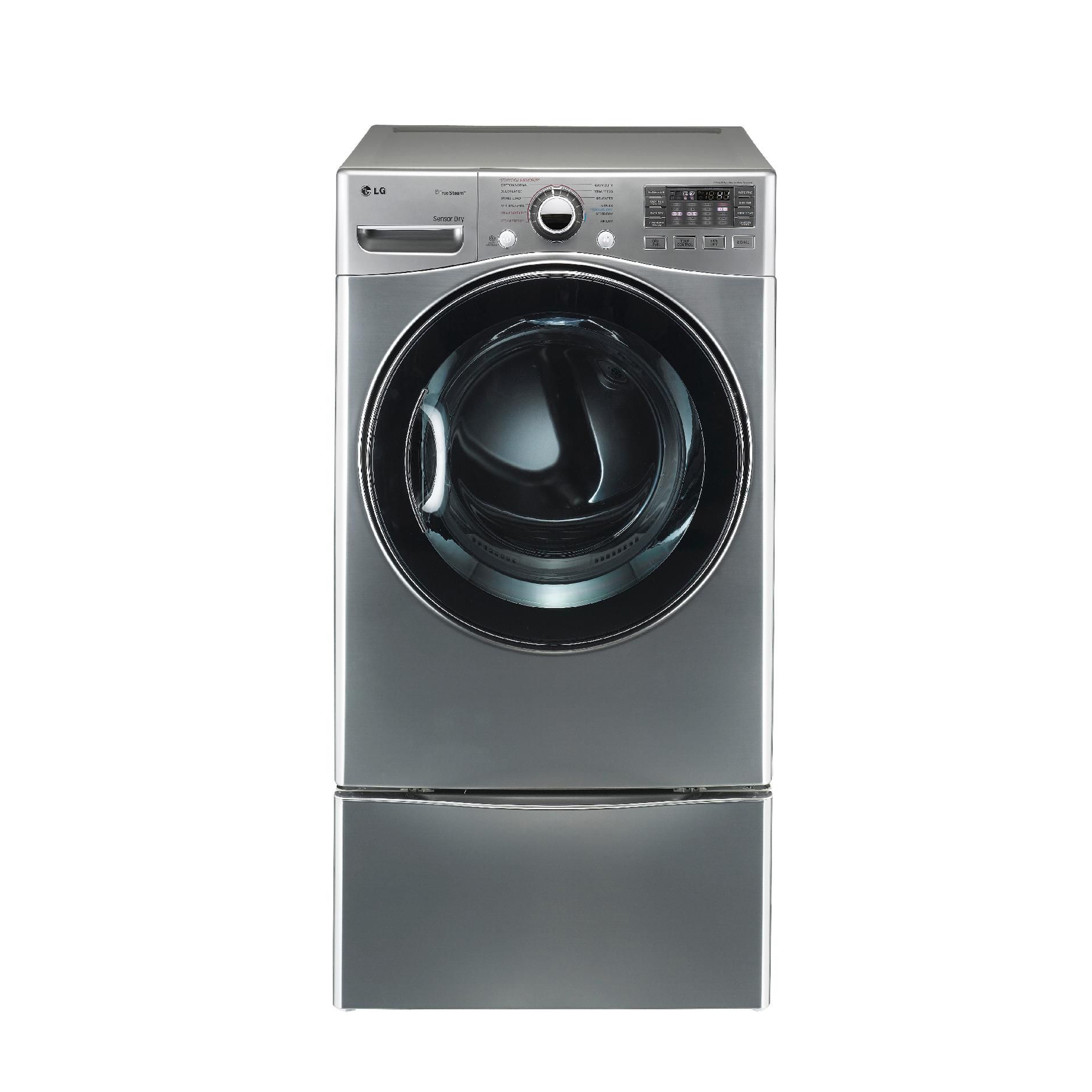 LG 7.3 cu. ft. Steam Electric Dryer w/ Sensor Dry - Graphite Steel