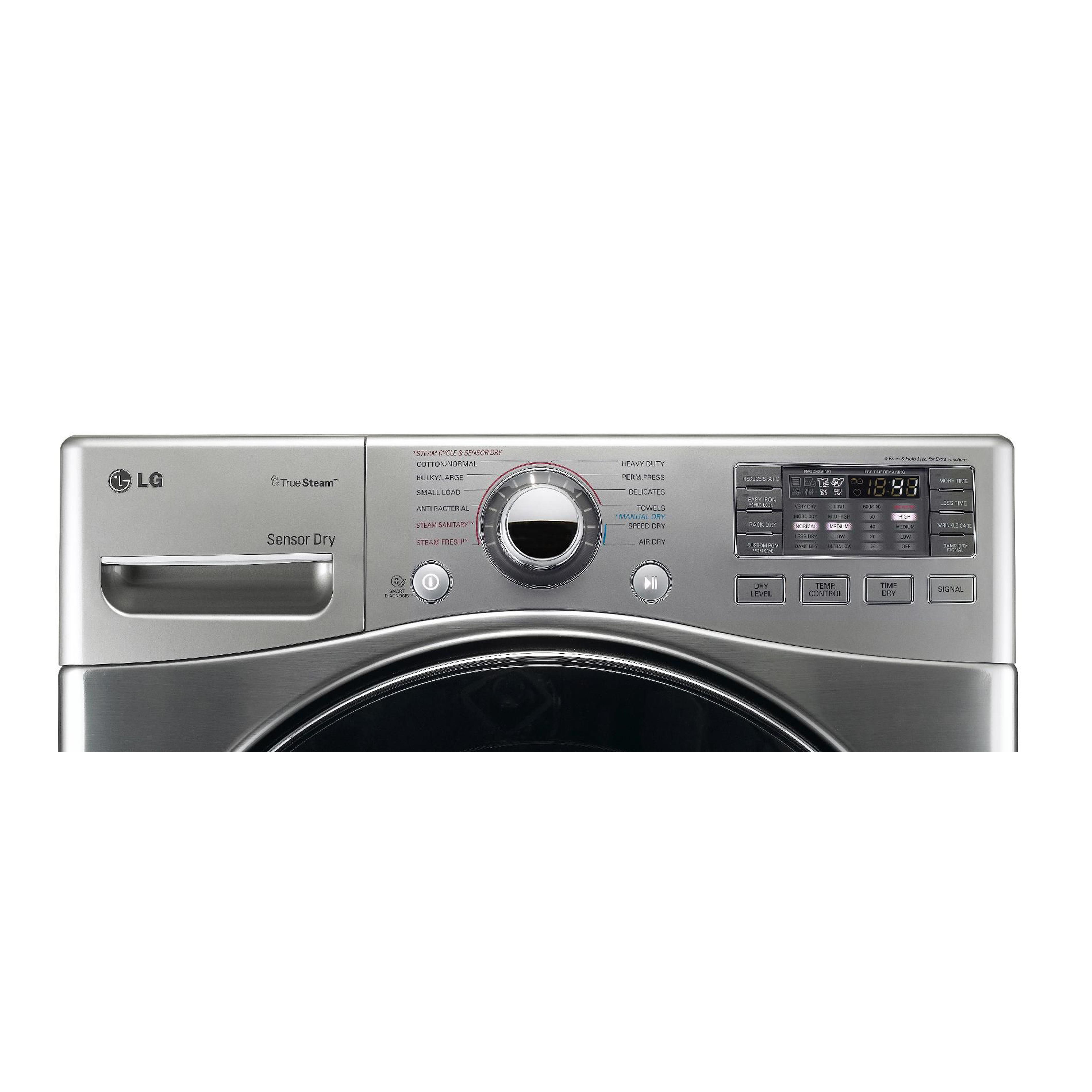 LG 7.3 cu. ft. Steam Gas Dryer w/ Sensor Dry  - Graphite Steel