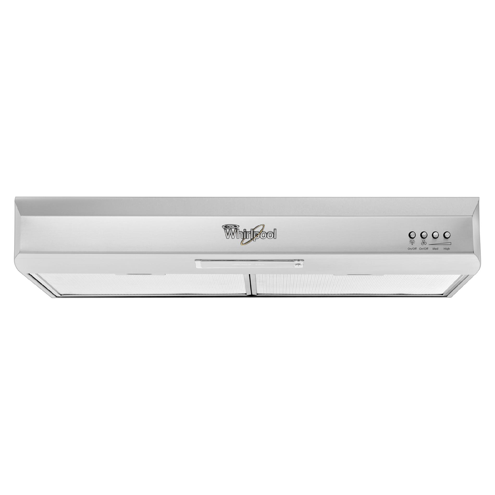 "Whirlpool GXU7130DXS Gold® 30"" Vented Under-Cabinet Range Hood - Stainless Steel"