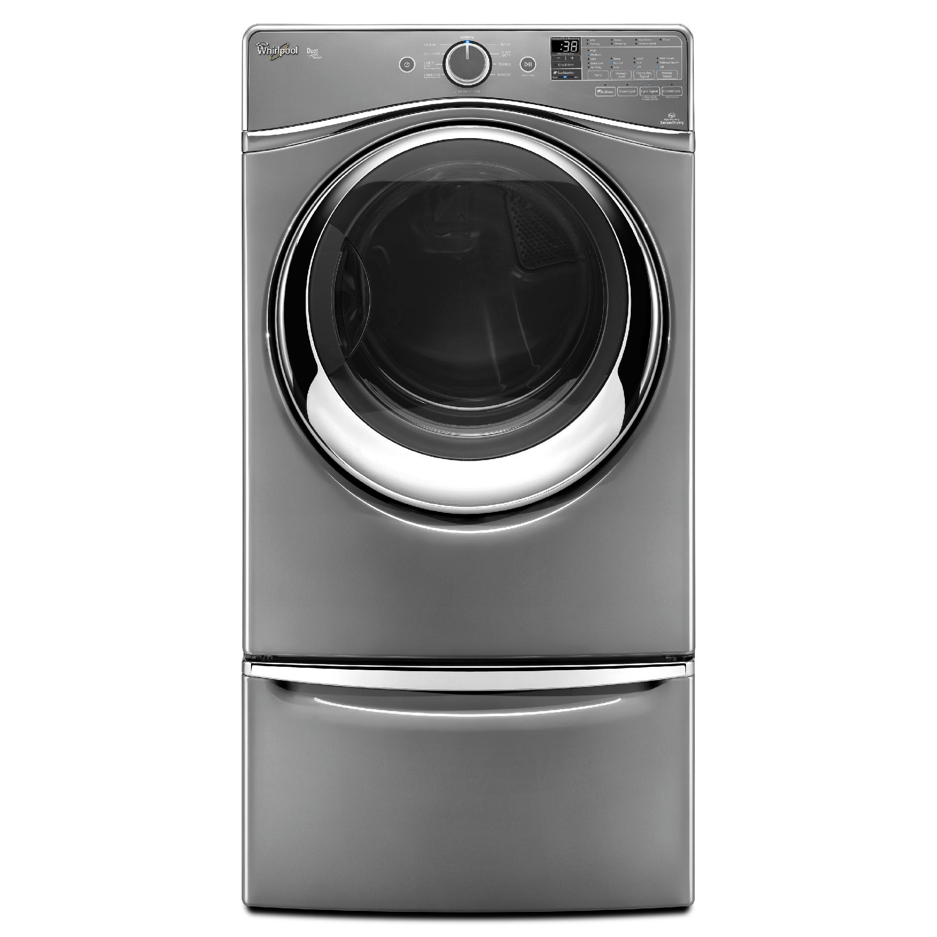 Whirlpool WGD95HEDC 7.4 cu. ft. Duet® Gas Dryer w/ Stainless Steel Drum - Chrome Shadow WGD95HEDC