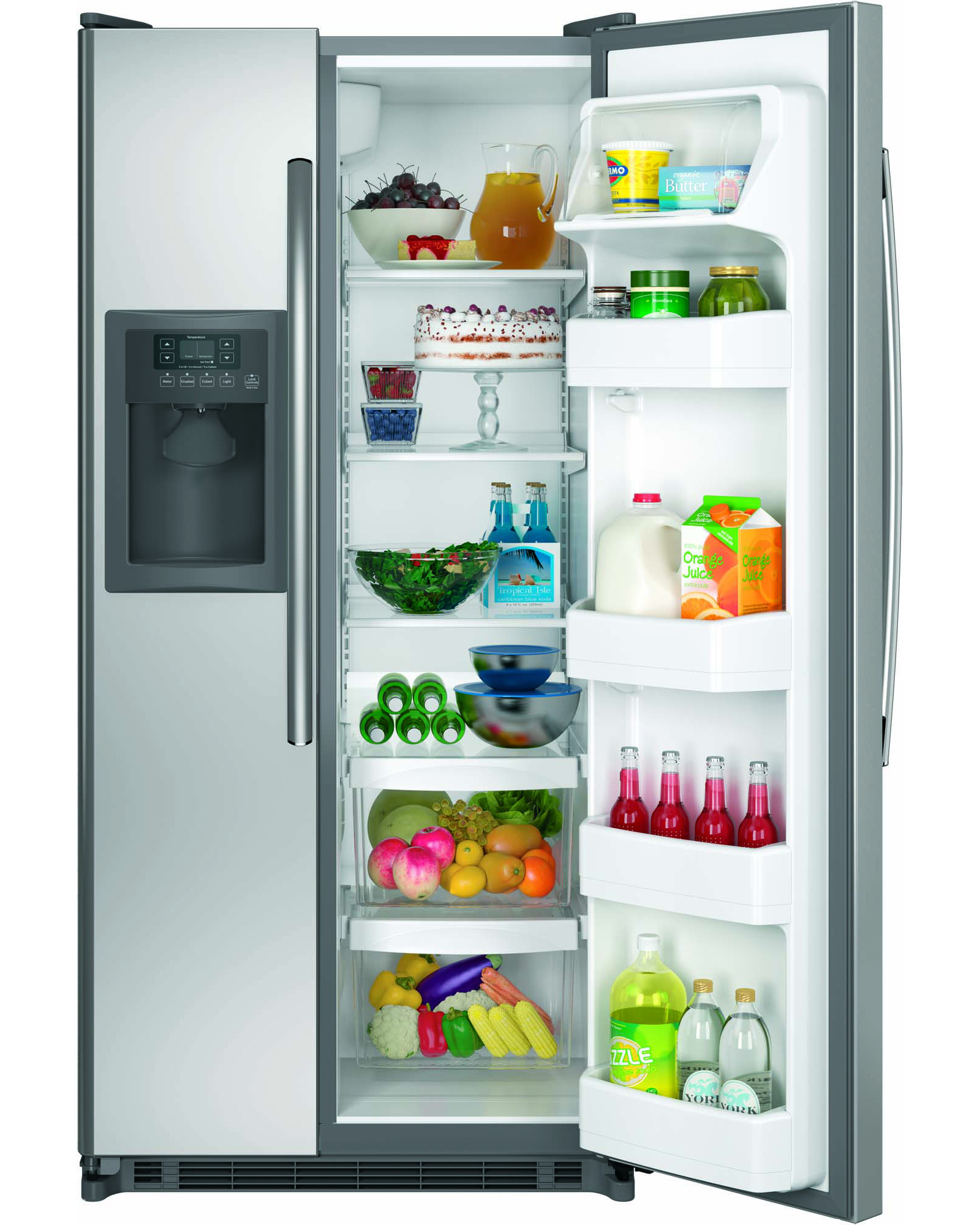 GE Appliances GSS20ESHSS 19.9 cu. ft. Side-by-Side Refrigerator - Stainless Steel