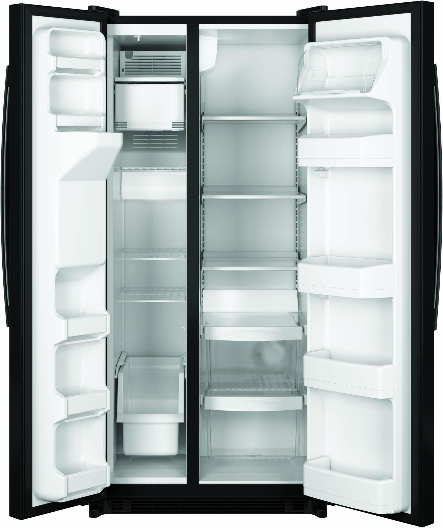 GE Appliances GSS20ETHBB 19.9 cu. ft. Side-by-Side Refrigerator - Black
