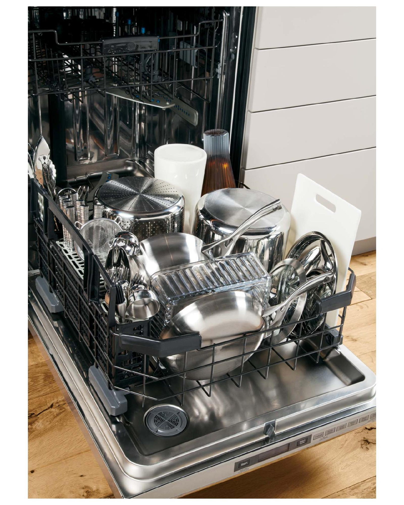 "GE Profile™ Series 24"" Built-in Dishwasher w/ Stainless Steel Interior - Stainless Steel"