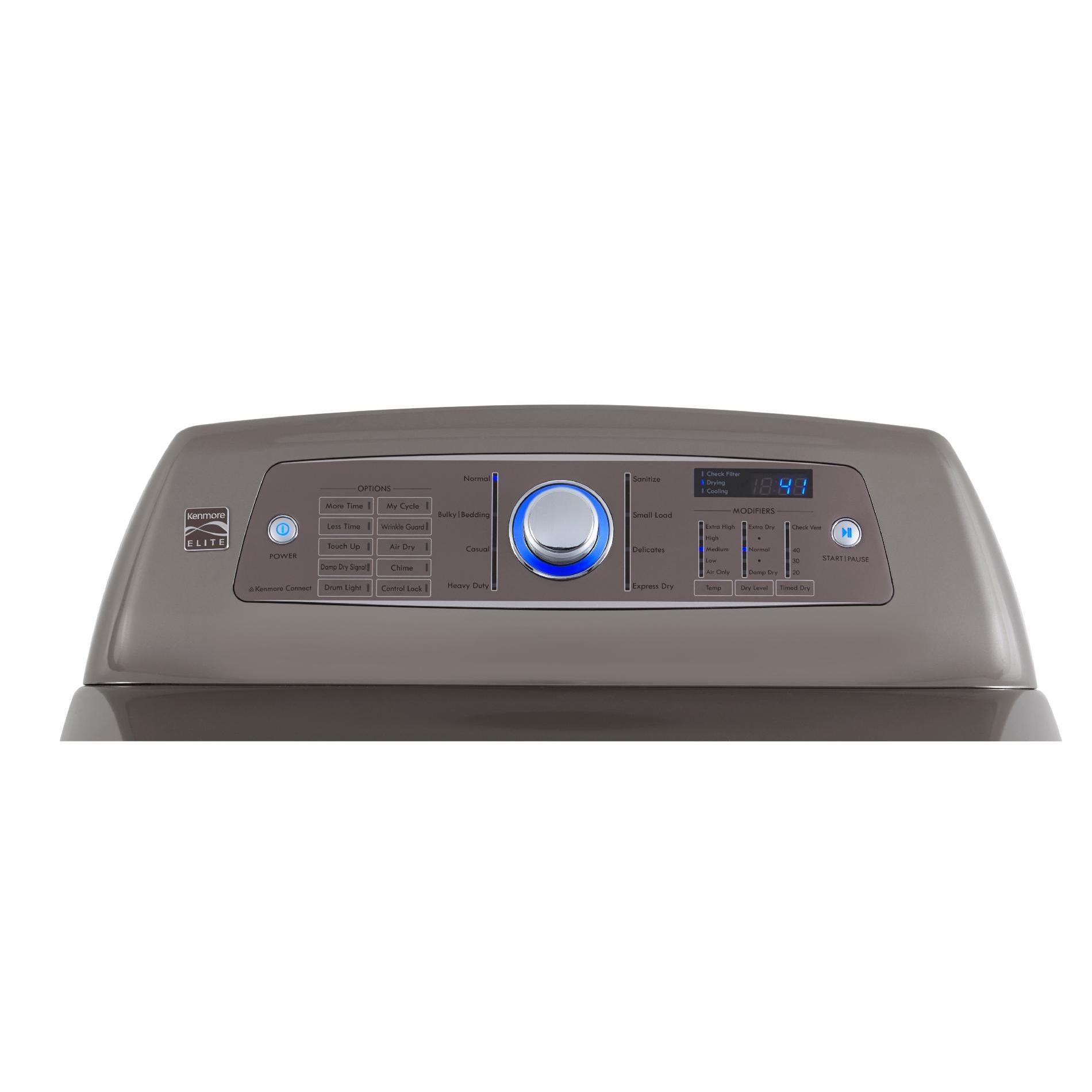 Kenmore Elite 7.3 cu. ft. Gas Dryer w/ Dual Sensor Dry - Metallic Silver