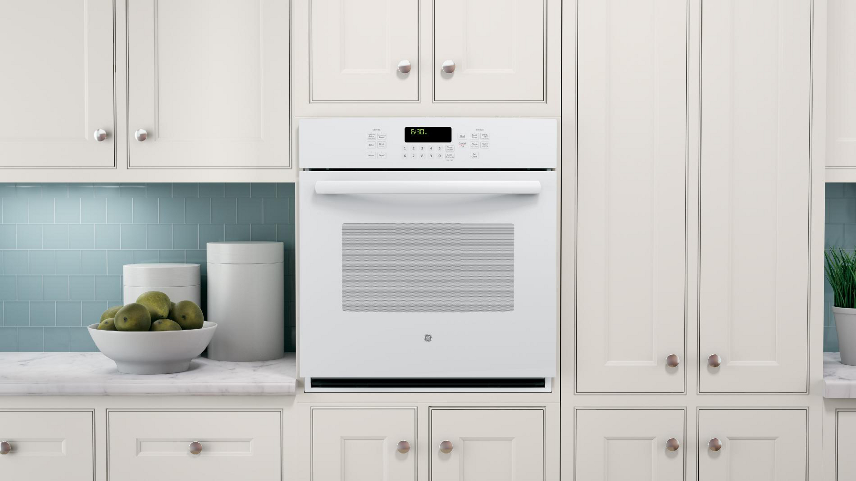 "GE Appliances 27"" Electric Single Wall Oven w/ True Convection - White"